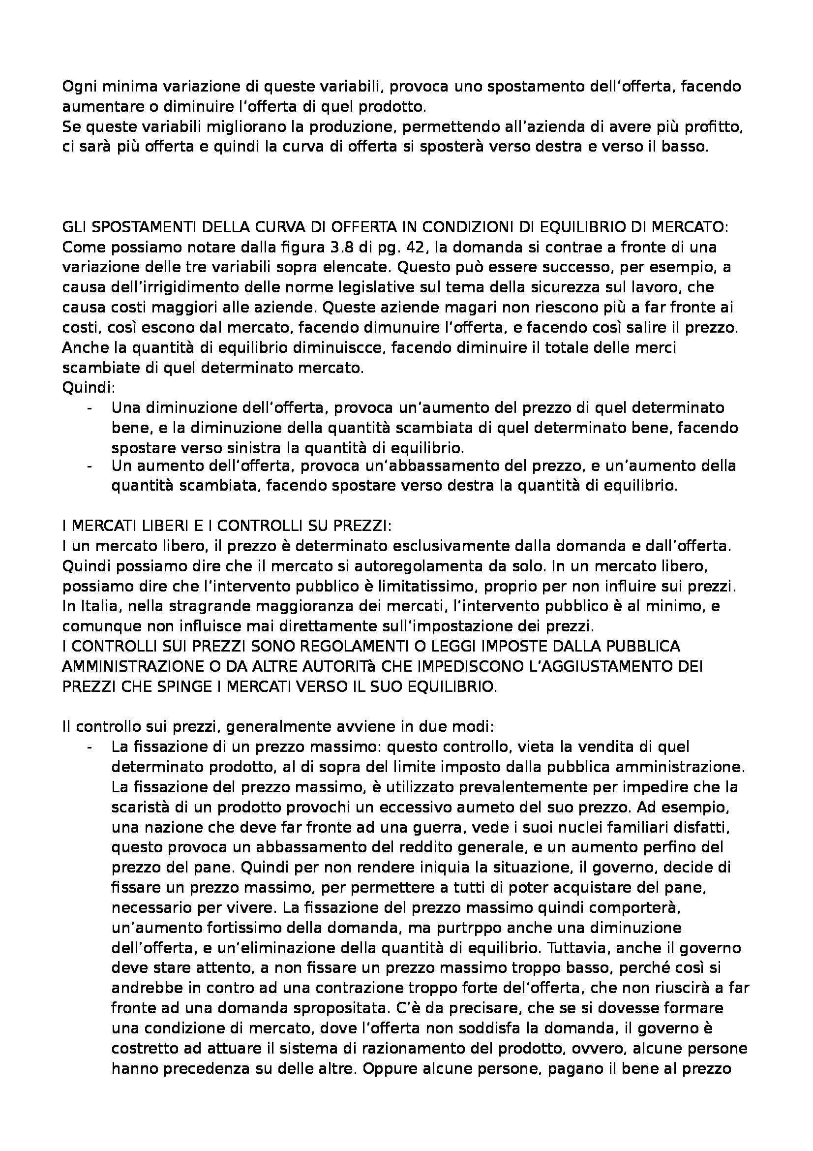 Riassunto esame Economia politica (microeconomia), prof. Besana, libro consigliato Economia, Begg, Vernasca, Fischer, Dornsbusch, Besana Pag. 11