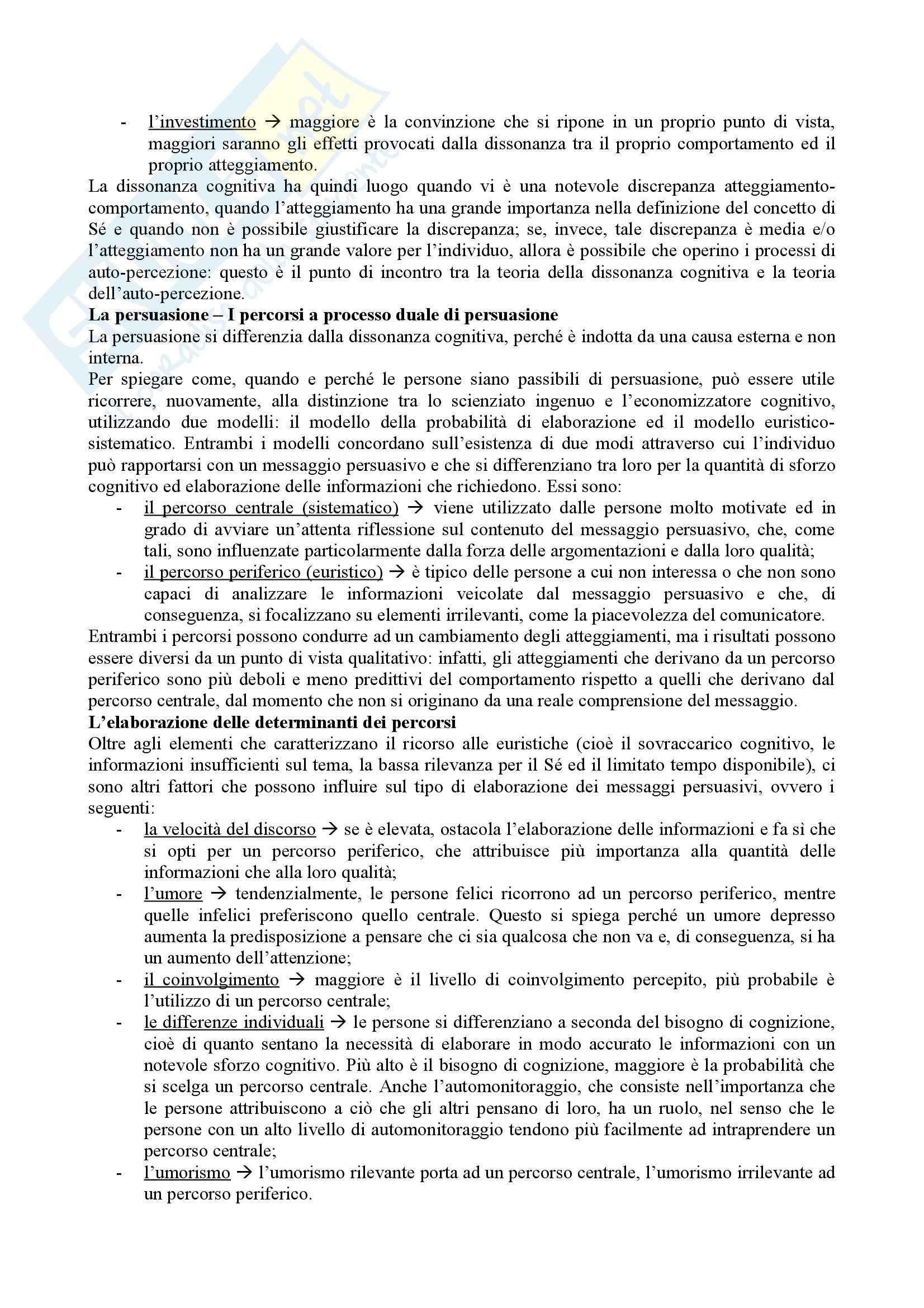 Riassunto esame Psicologia sociale, prof. Mosso, libro consigliato Psicologia sociale, Crisp, R. J. & Turner, R. T. Pag. 6