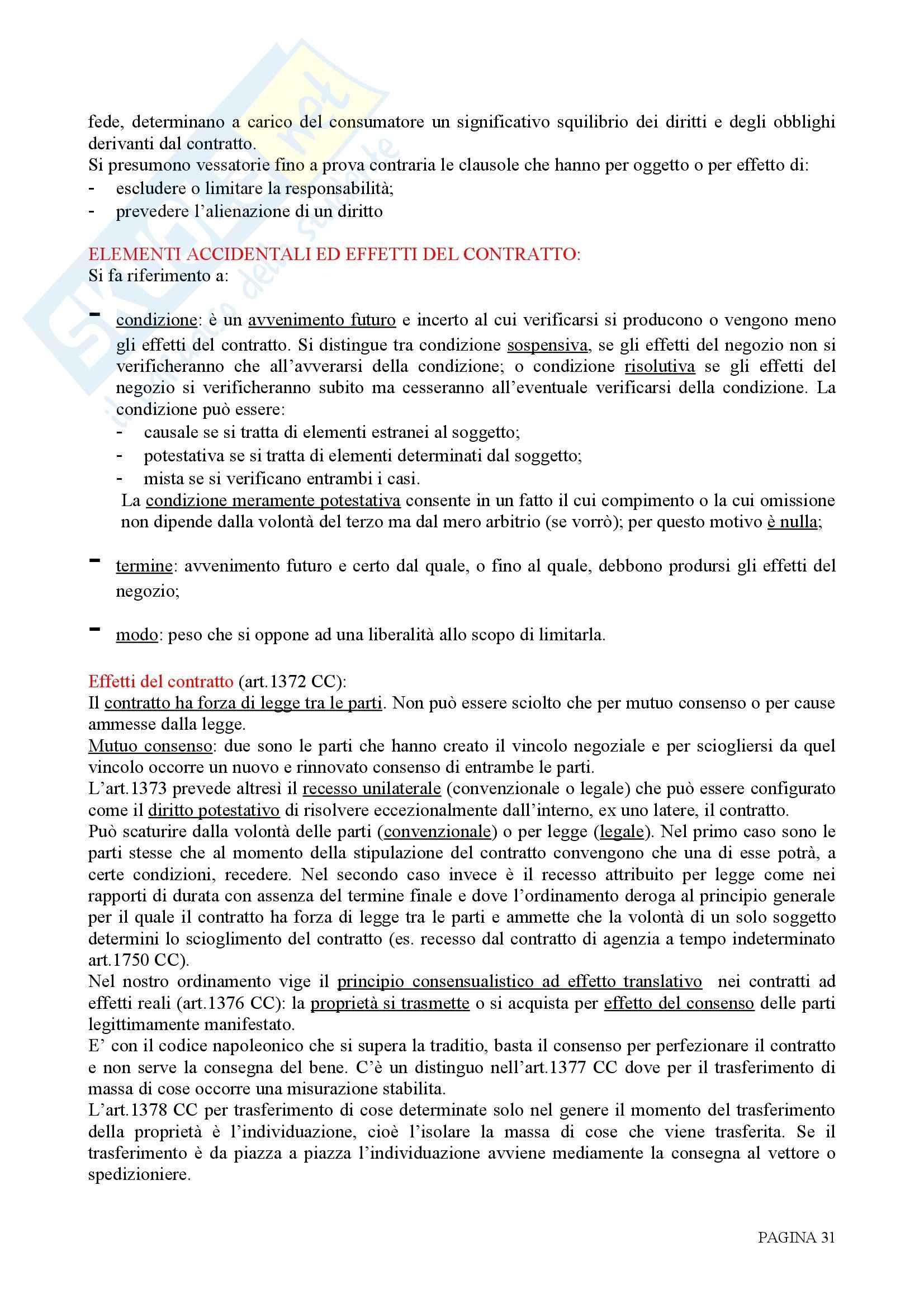 Riassunto esame Diritto Privato, prof. Rolli, libro consigliato Istituzioni di Diritto Privato, Galgano Pag. 31