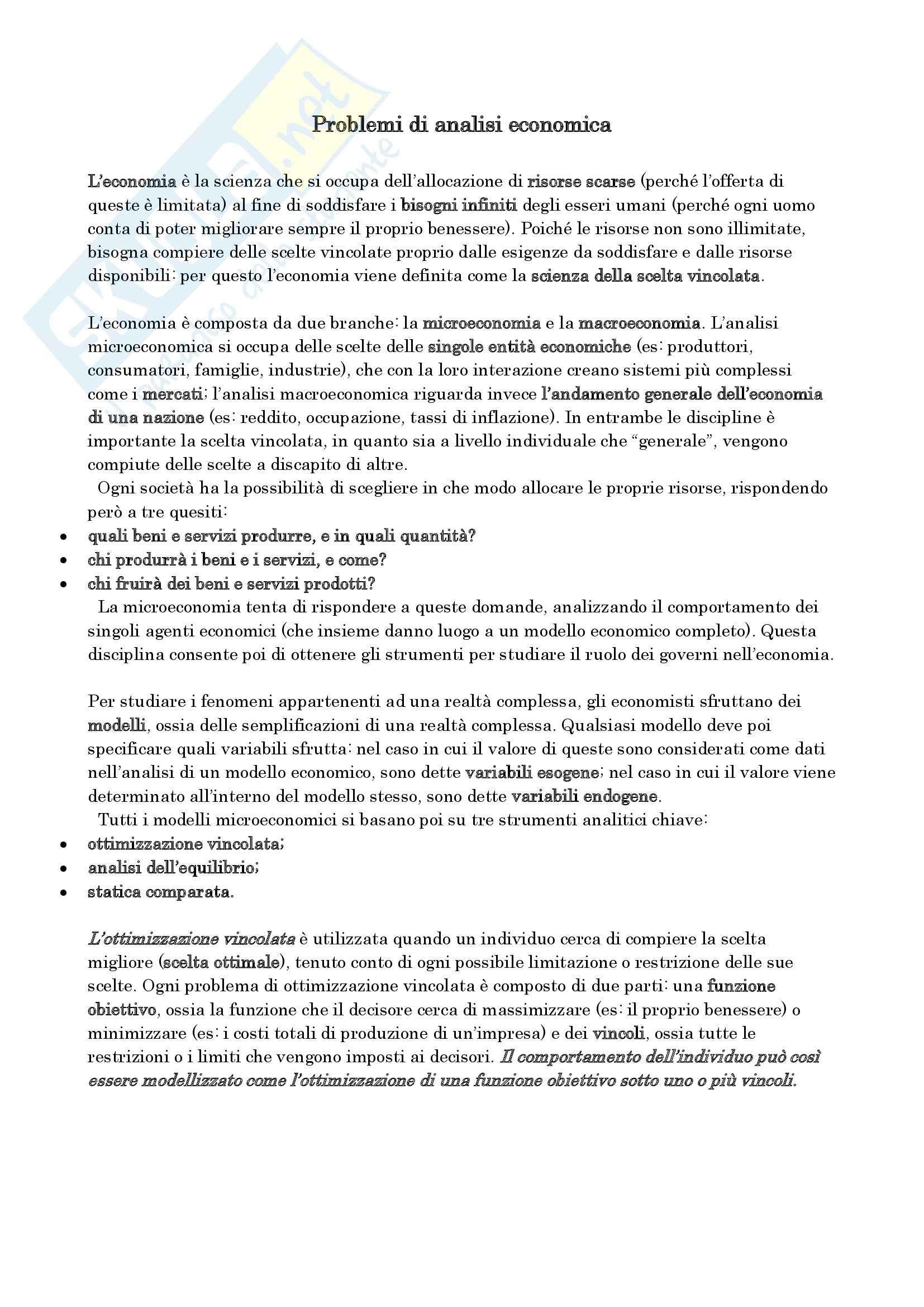 appunto G. Immortino Microeconomia e complementi di microeconomia