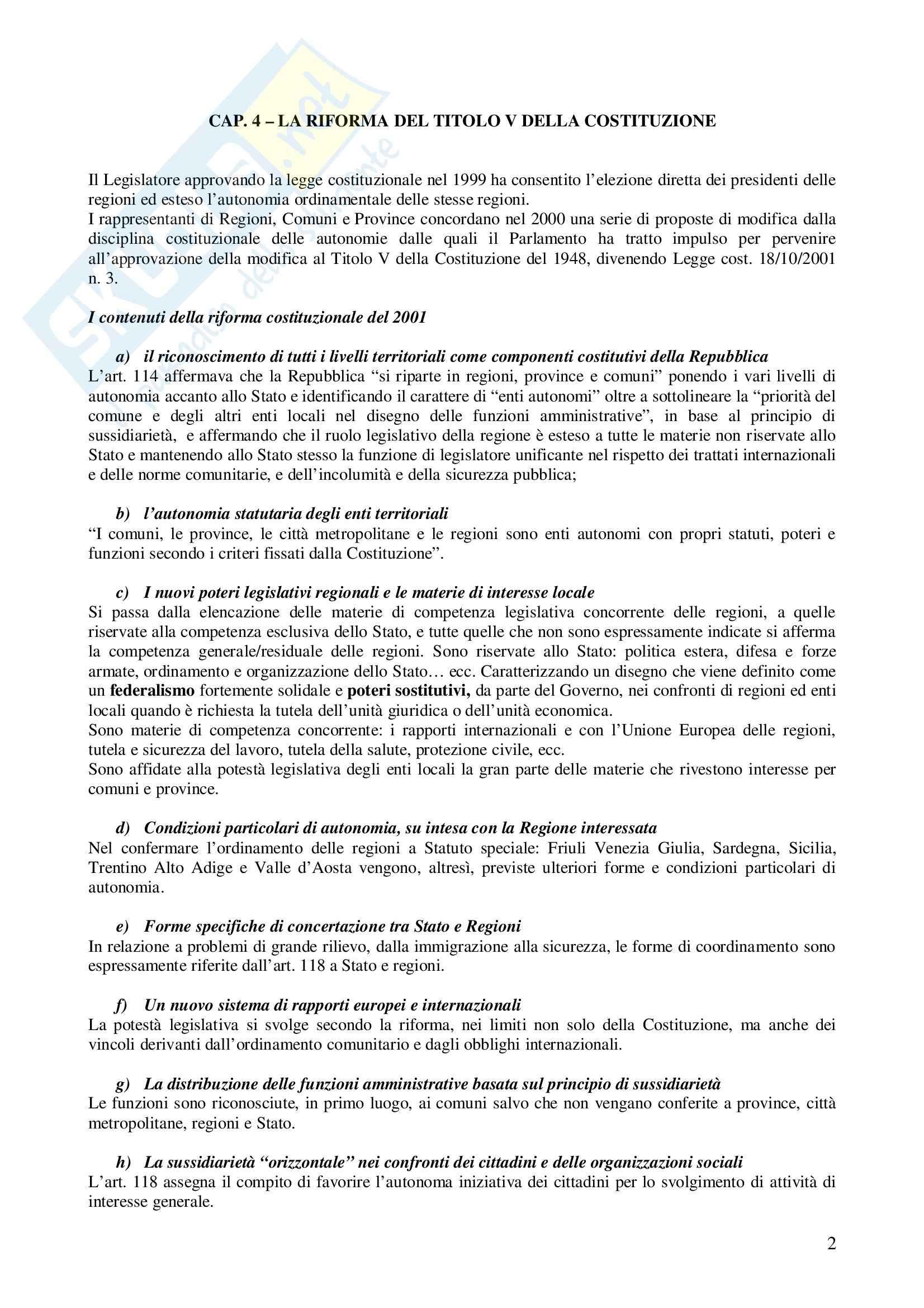 Riassunto esame Diritto degli Enti Locali, prof. Di Lieto, libro consigliato Il sistema delle autonomie locali, Vandelli Pag. 2