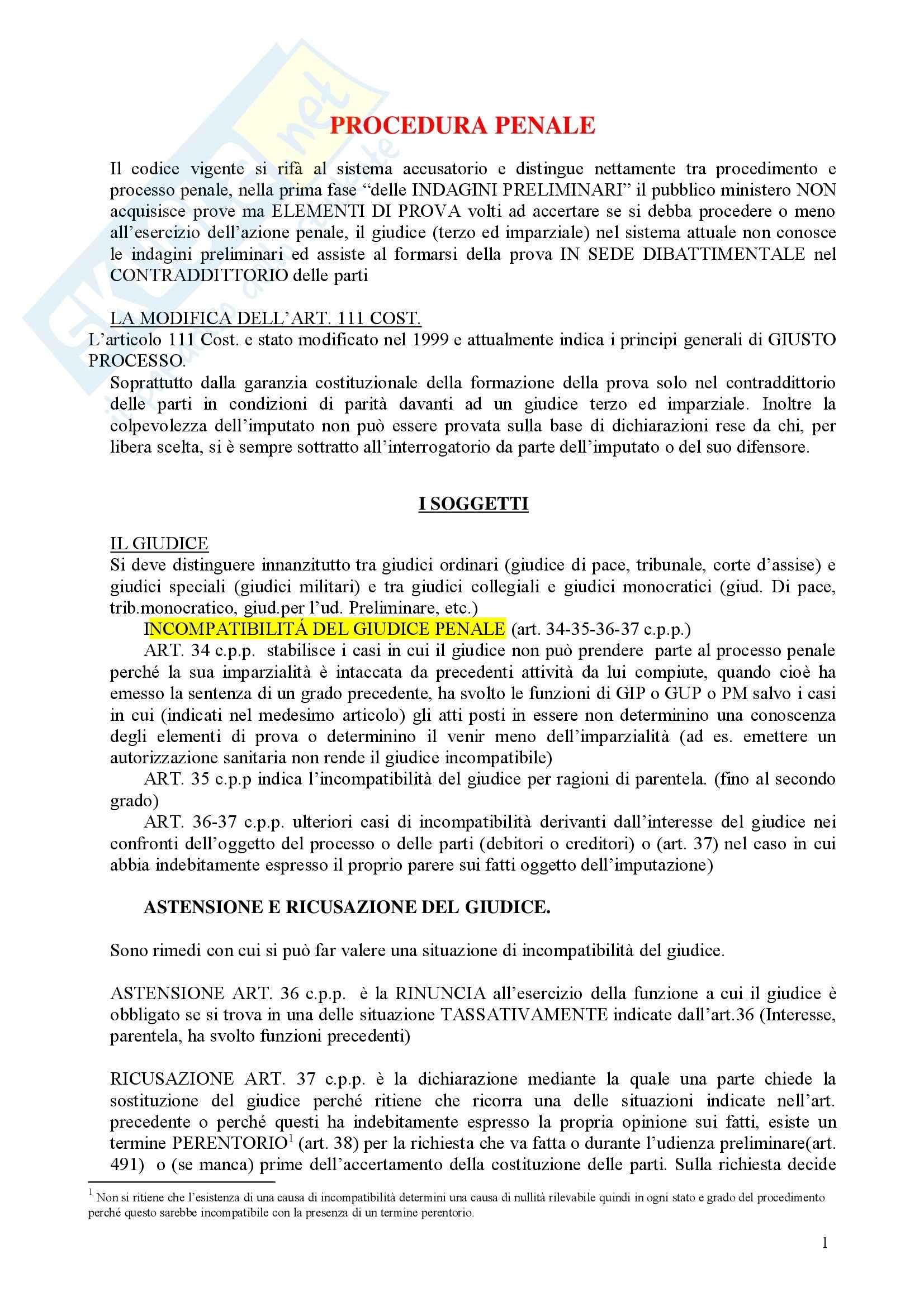 Riassunto esame Diritto Processuale Penale, prof. Marafioti, libro consigliato Diritto Processuale Penale, Lozzi