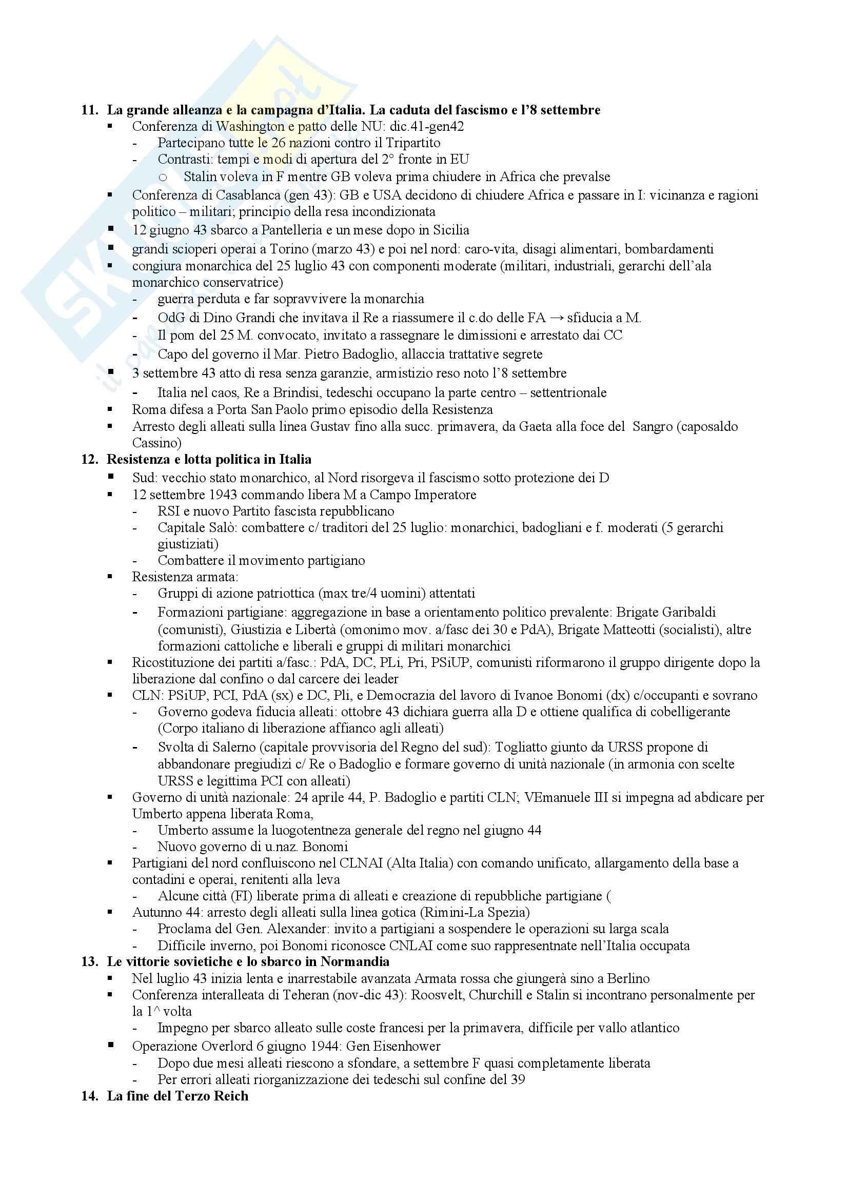 Riassunto esame Storia Contemporanea, prof. Benedetta, libro consigliato Storia Contemporanea, Sabbatucci, Vidotto Pag. 16