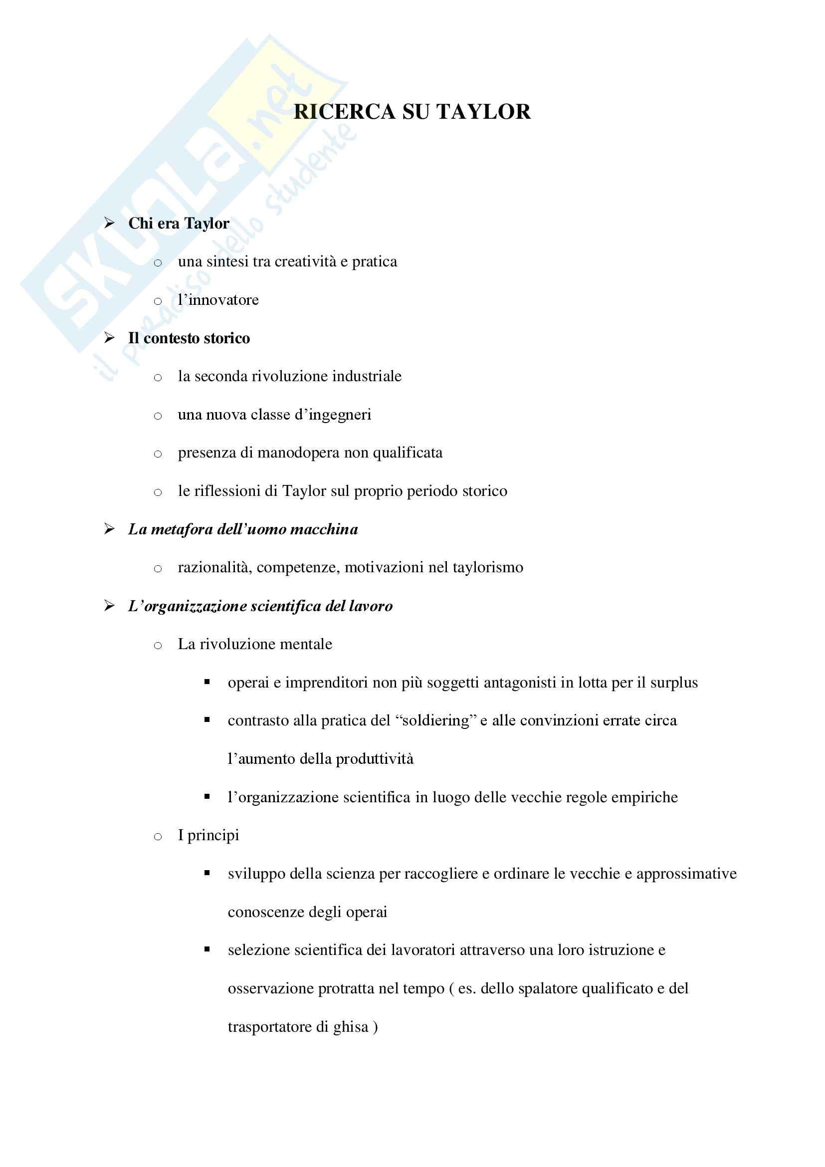appunto P. Scienze Sociali Sociologia
