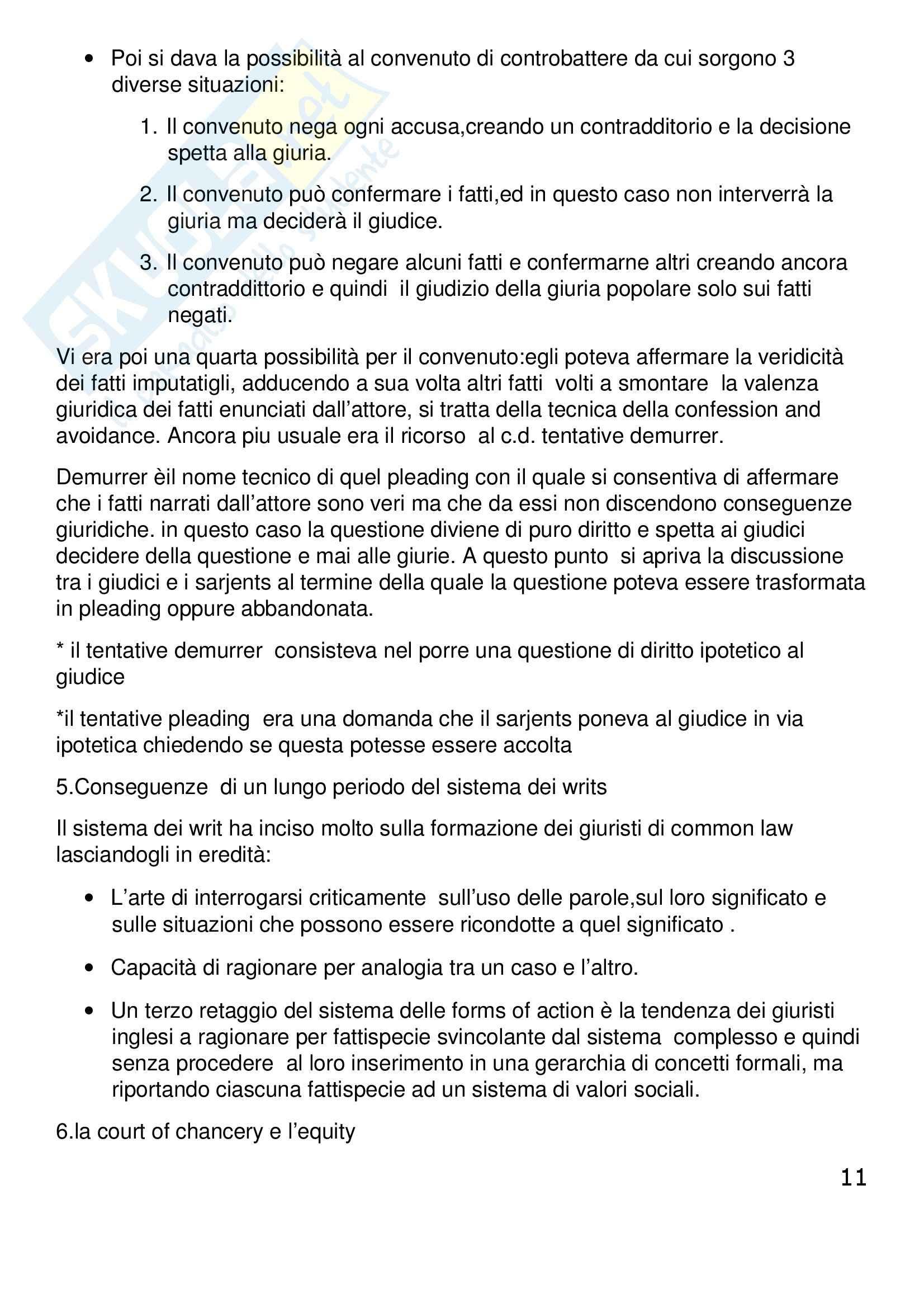 Riassunto esame Diritto Privato Comparato, prof. Corapi, libro consigliato Sistemi Giuridici Comparati, Gambaro, Sacco Pag. 11