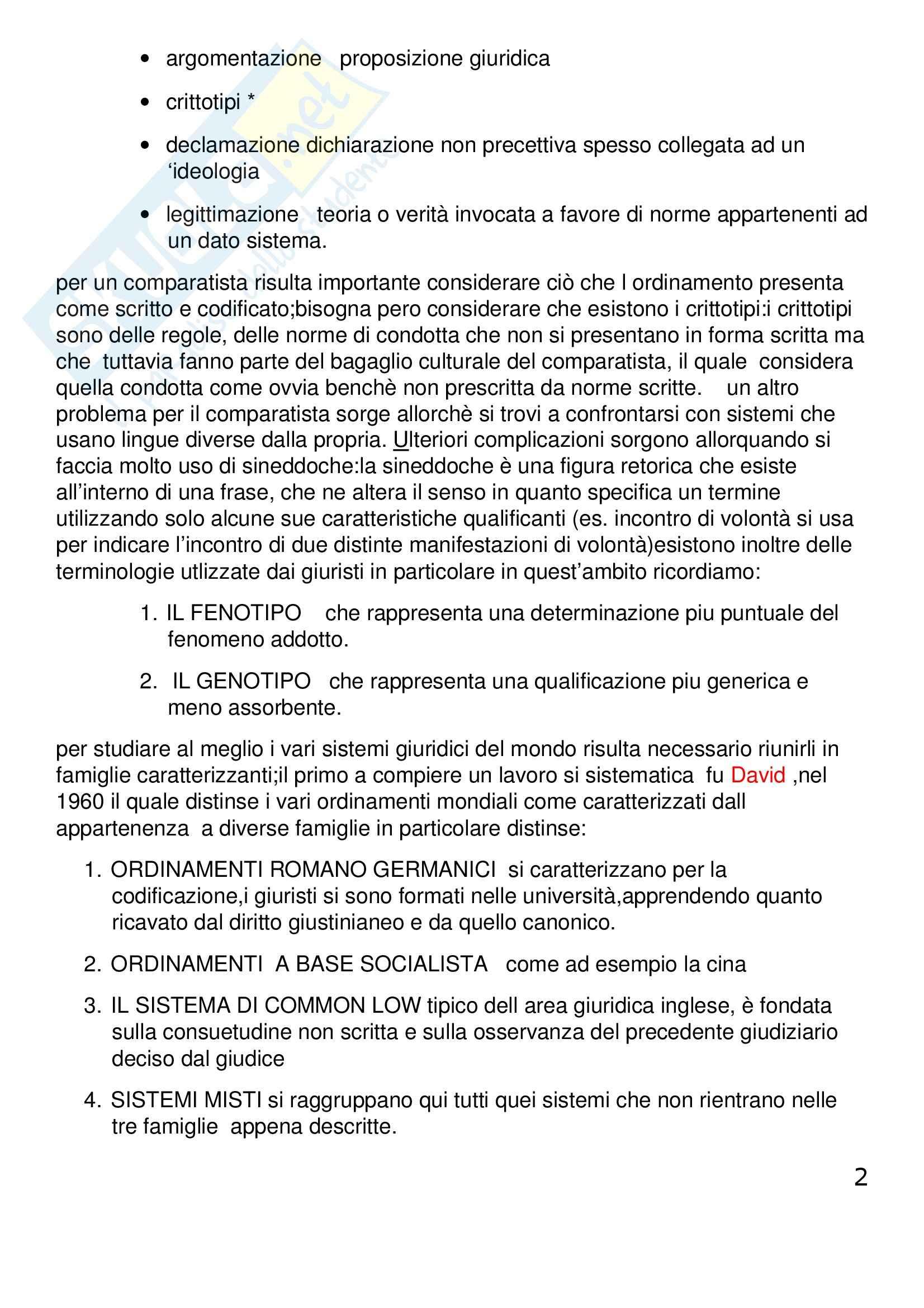 Riassunto esame Diritto Privato Comparato, prof. Corapi, libro consigliato Sistemi Giuridici Comparati, Gambaro, Sacco Pag. 2