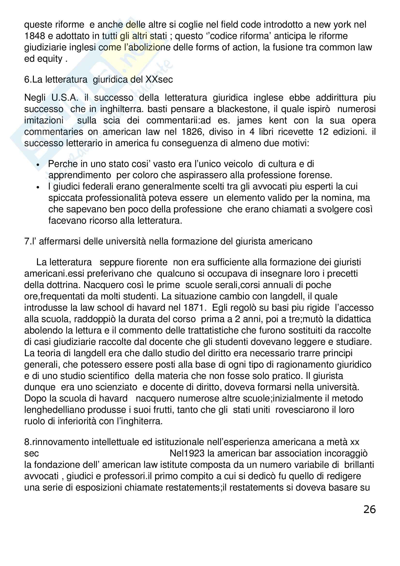 Riassunto esame Diritto Privato Comparato, prof. Corapi, libro consigliato Sistemi Giuridici Comparati, Gambaro, Sacco Pag. 26