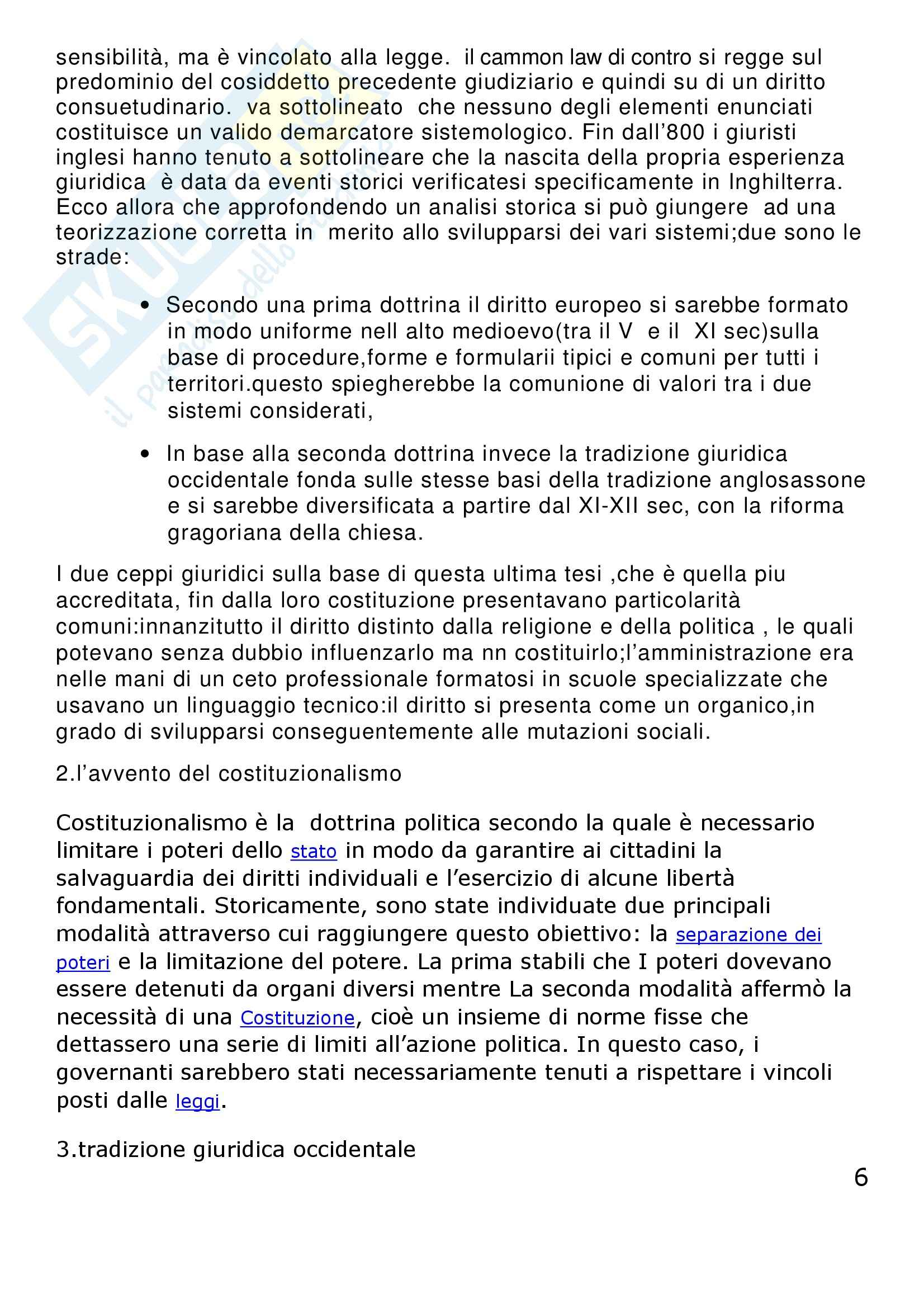 Riassunto esame Diritto Privato Comparato, prof. Corapi, libro consigliato Sistemi Giuridici Comparati, Gambaro, Sacco Pag. 6