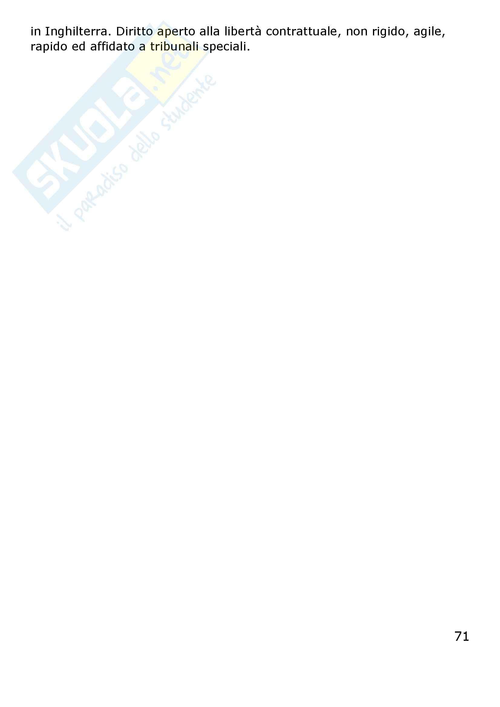 Riassunto esame Diritto Privato Comparato, prof. Corapi, libro consigliato Sistemi Giuridici Comparati, Gambaro, Sacco Pag. 71