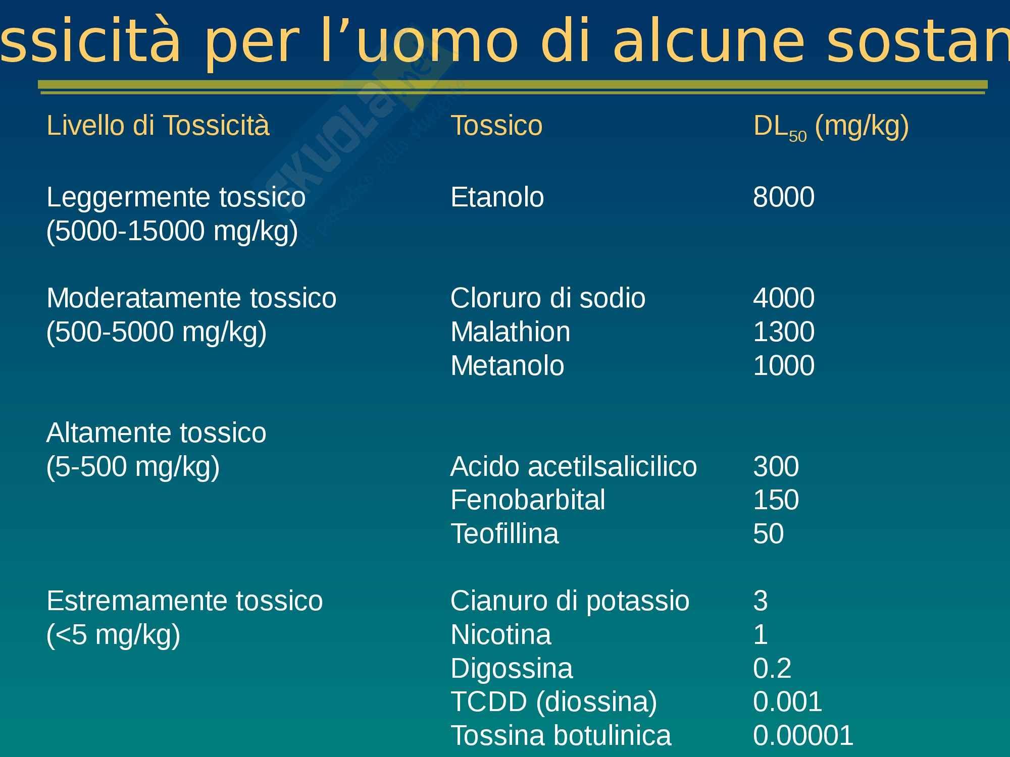 Tossicologia e mutagenesi ambientale, lezione 1 - Appunti Pag. 11
