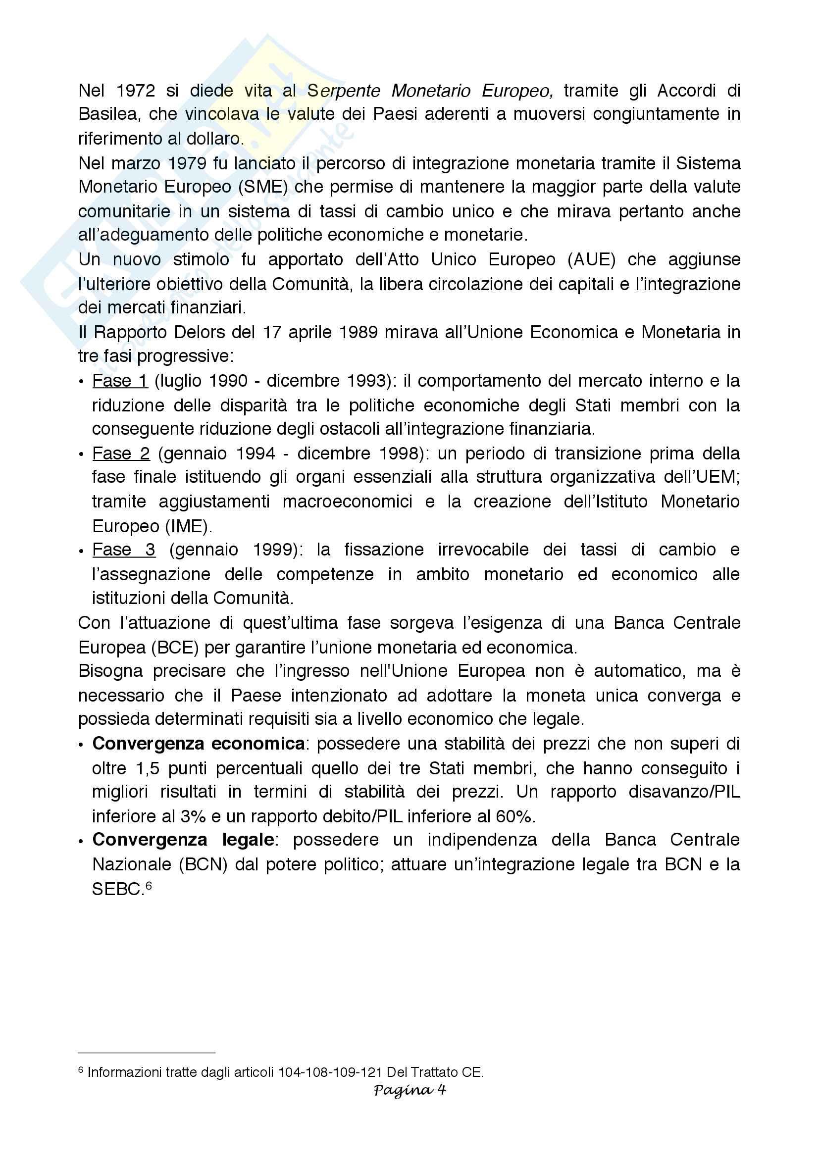 Tesi di laurea BCE e Fed a confronto: obiettivi, struttura, strumenti e confronto Pag. 6