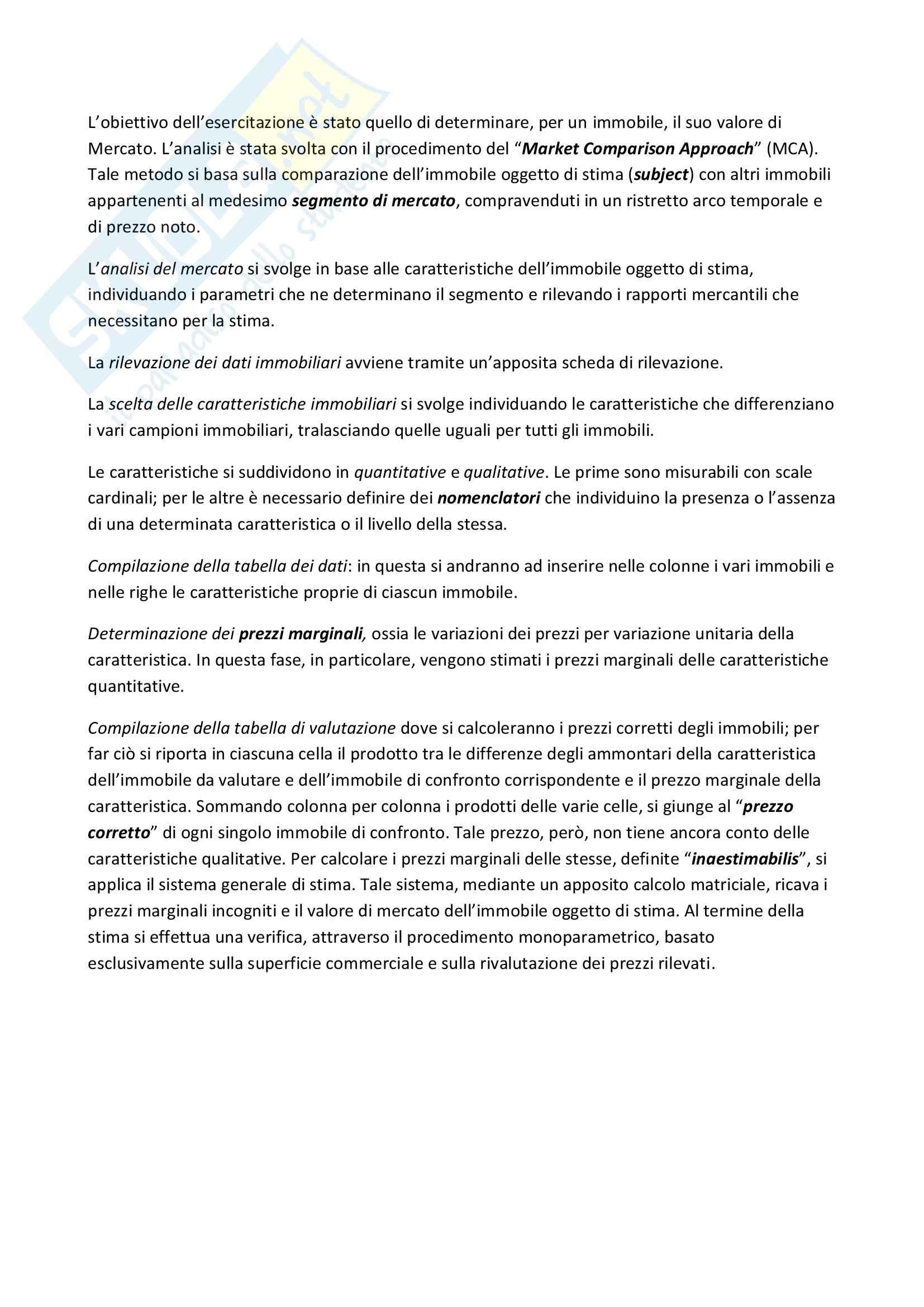 Stima del valore di mercato di un immobile sito nel comune di Palermo, Economia