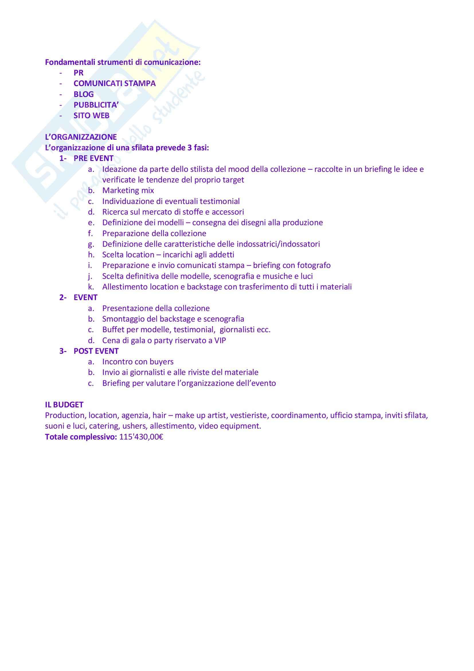 Riassunto esame Organizzazione e Gestione degli Eventi e dello Spettacolo, prof. Monno, libro consigliato Organizzare Eventi, Tavalazzi, Regina Pag. 21