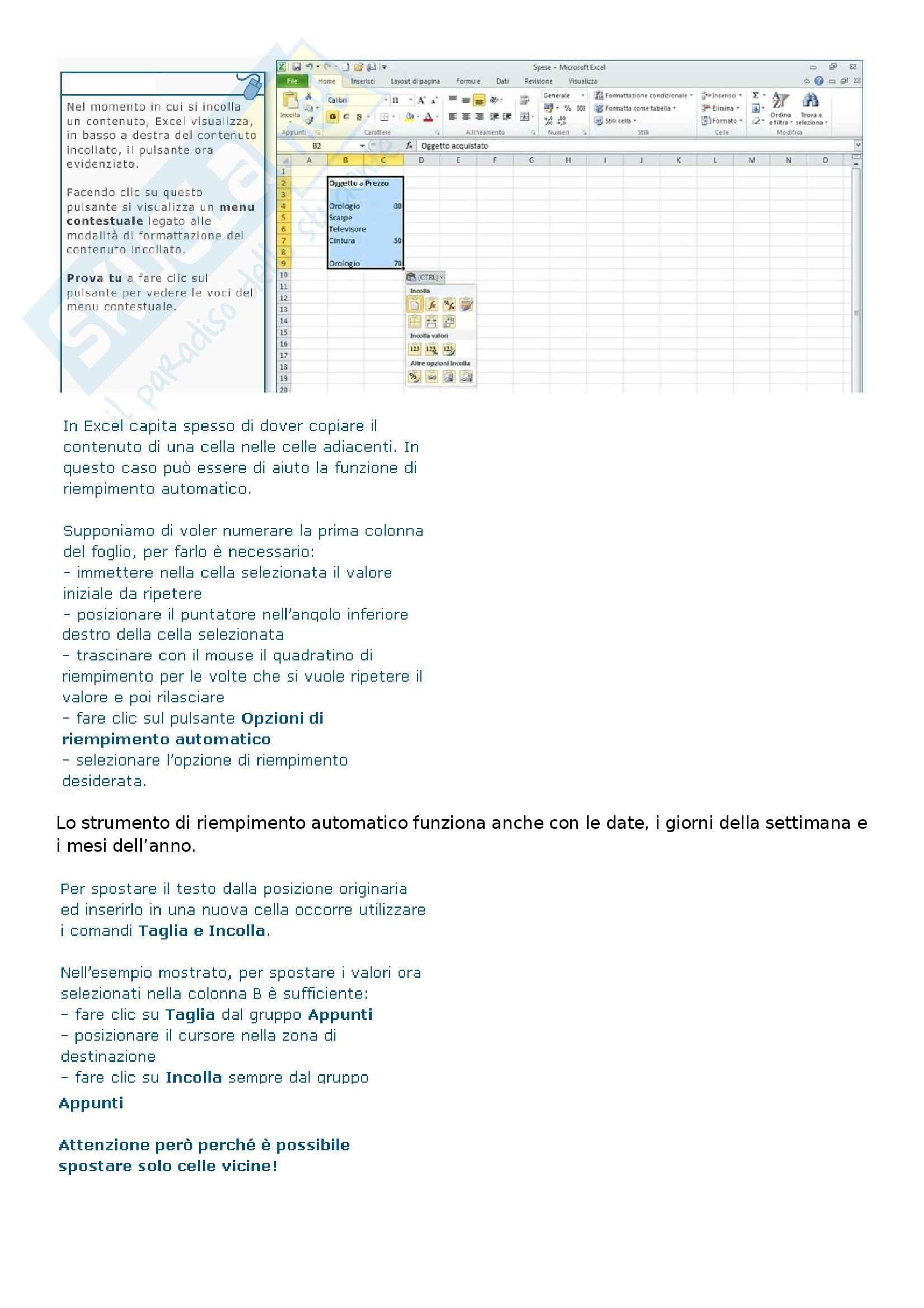 Ict e società dell'informazione - Come utilizzare i fogli di calcolo di Excel 2010 Pag. 21