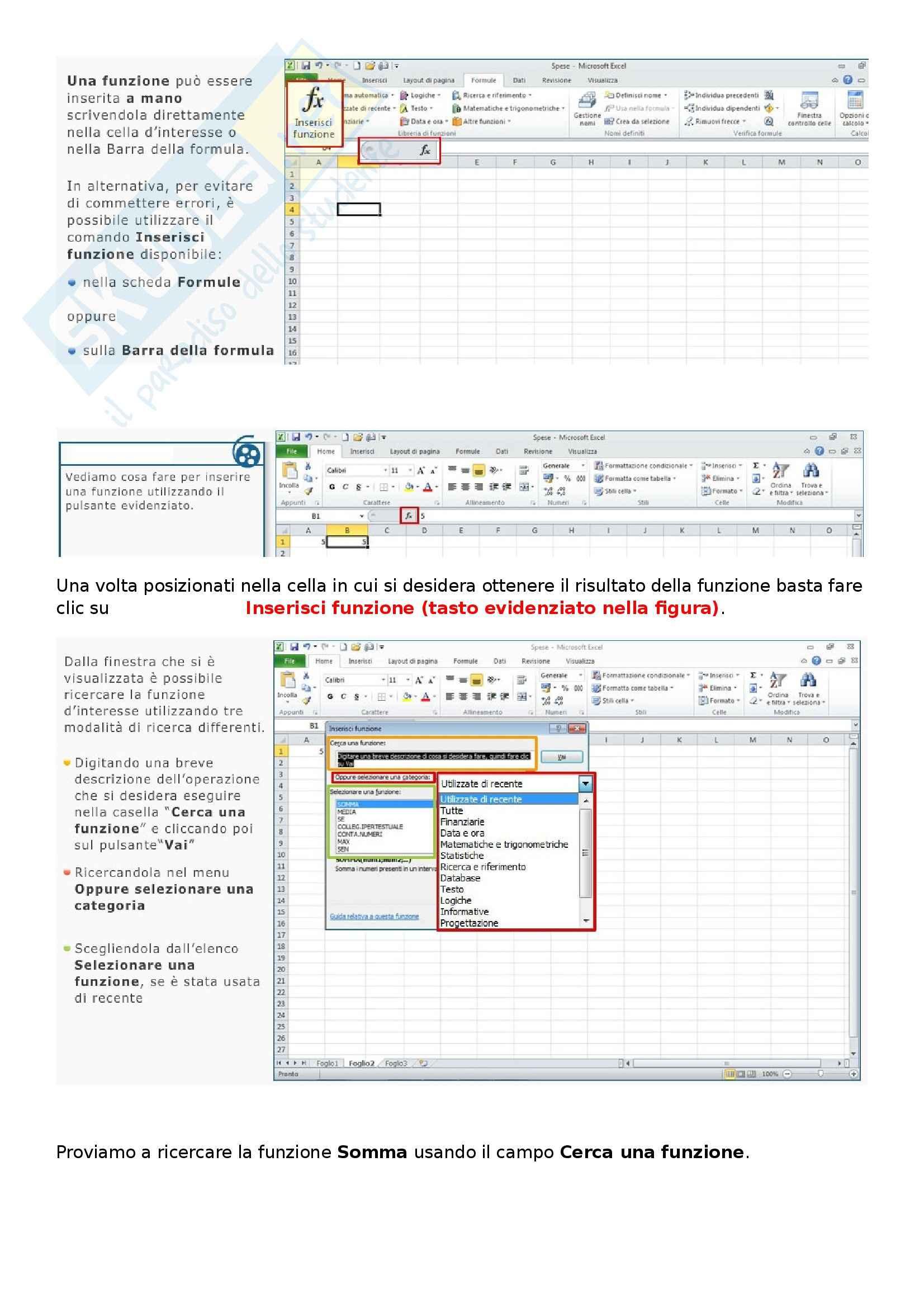 Ict e società dell'informazione - Come utilizzare i fogli di calcolo di Excel 2010 Pag. 36