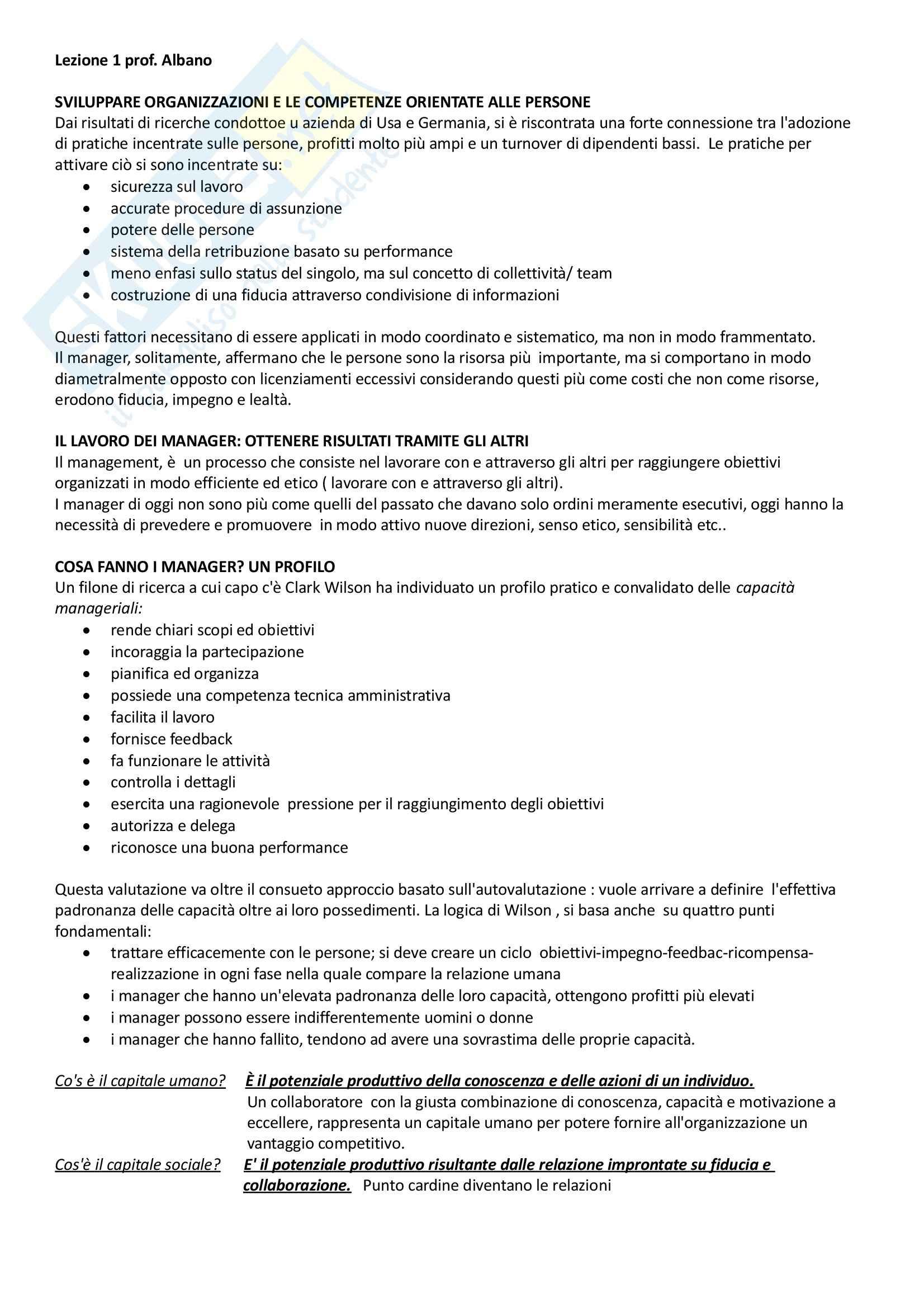 Comportamento organizzativo, Gestione e sviluppo delle risorse umane