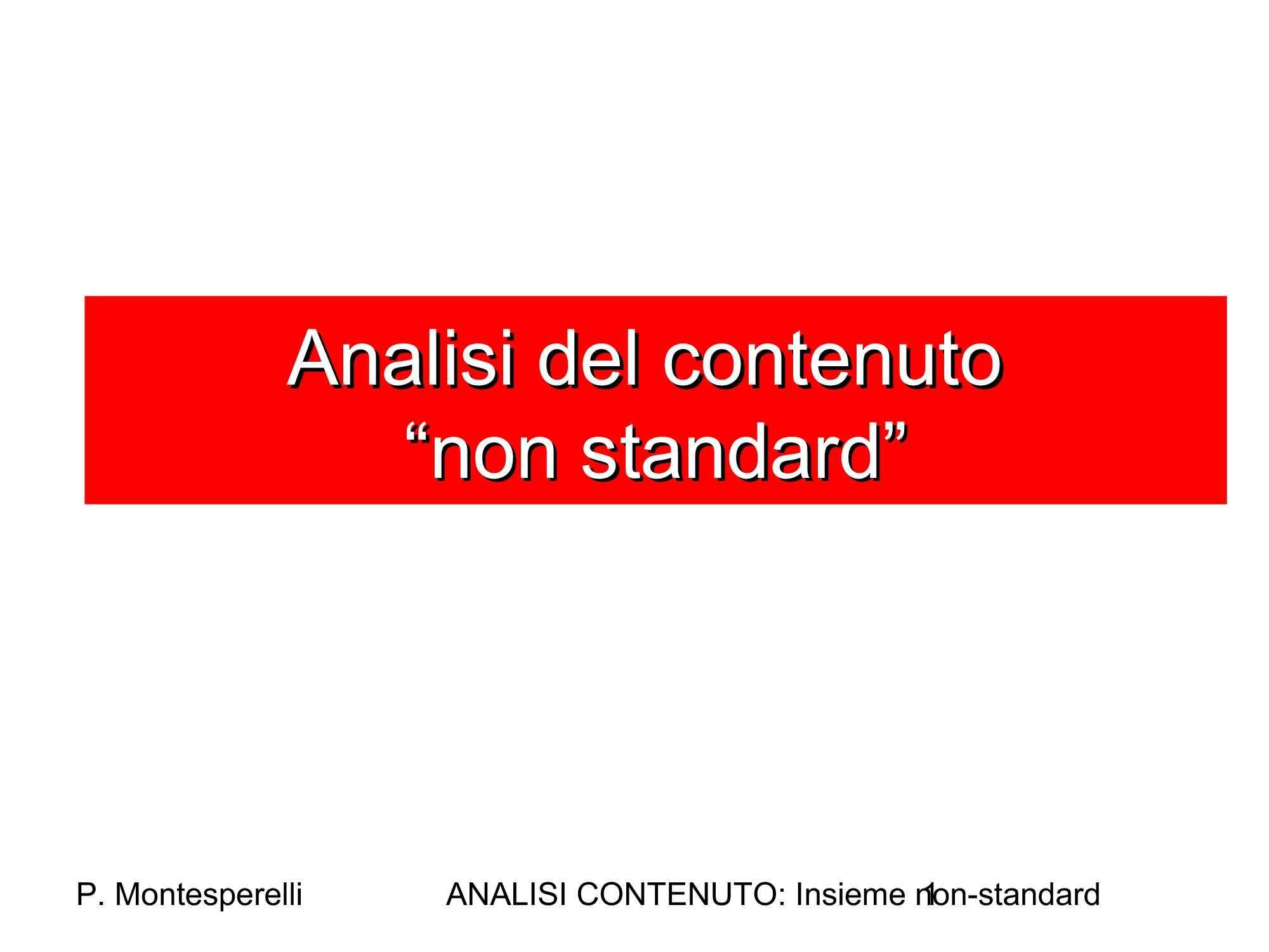 Contenuto non standard - Analisi