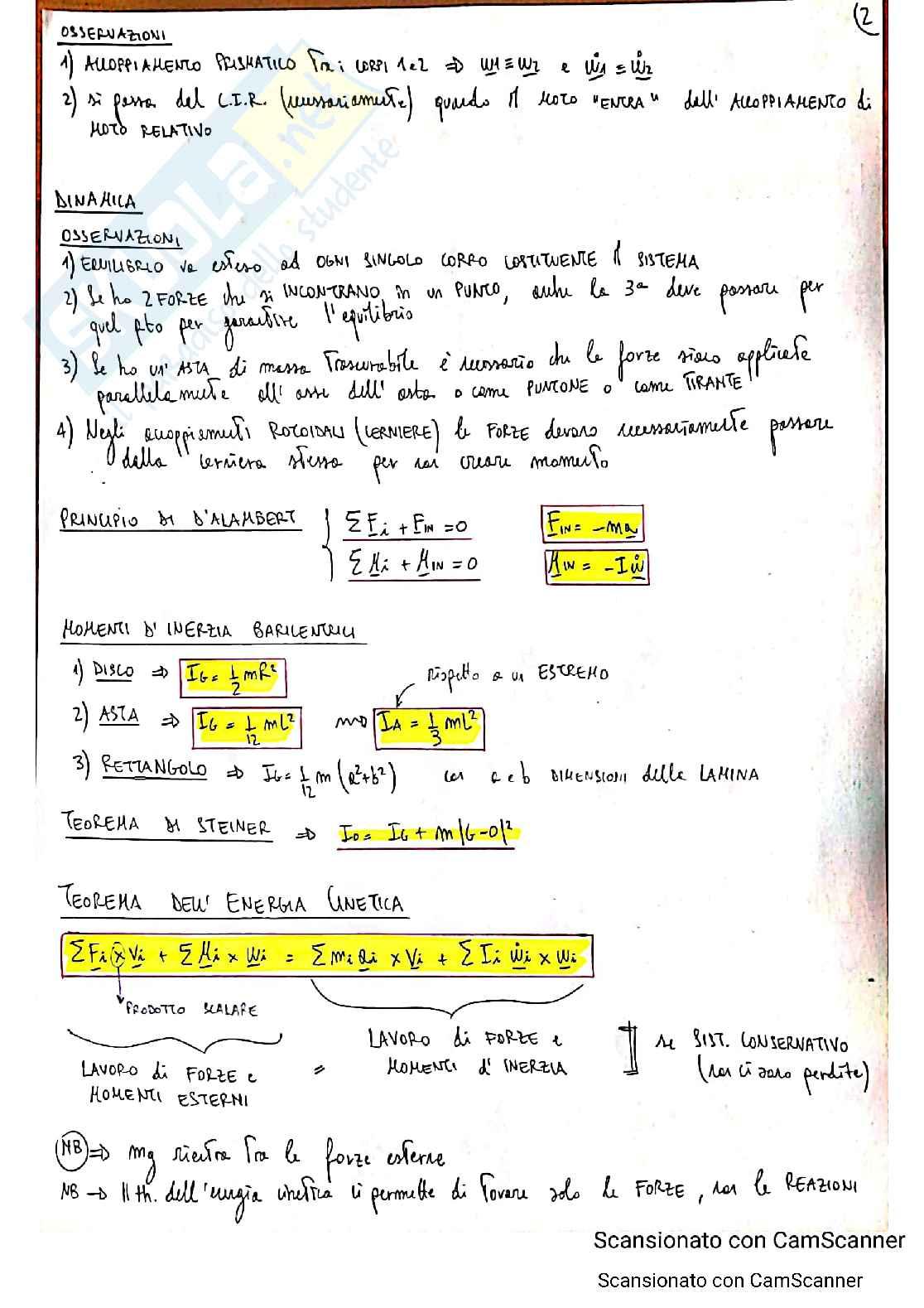 Formulario Meccanica applicata alle macchine Pag. 2
