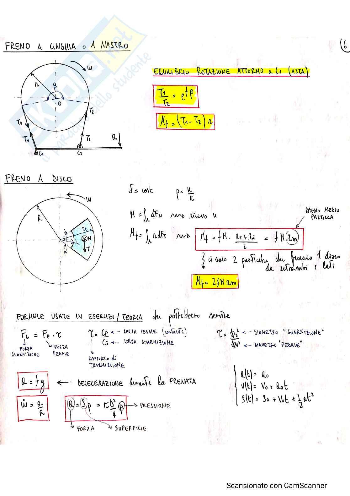 Formulario Meccanica applicata alle macchine Pag. 6