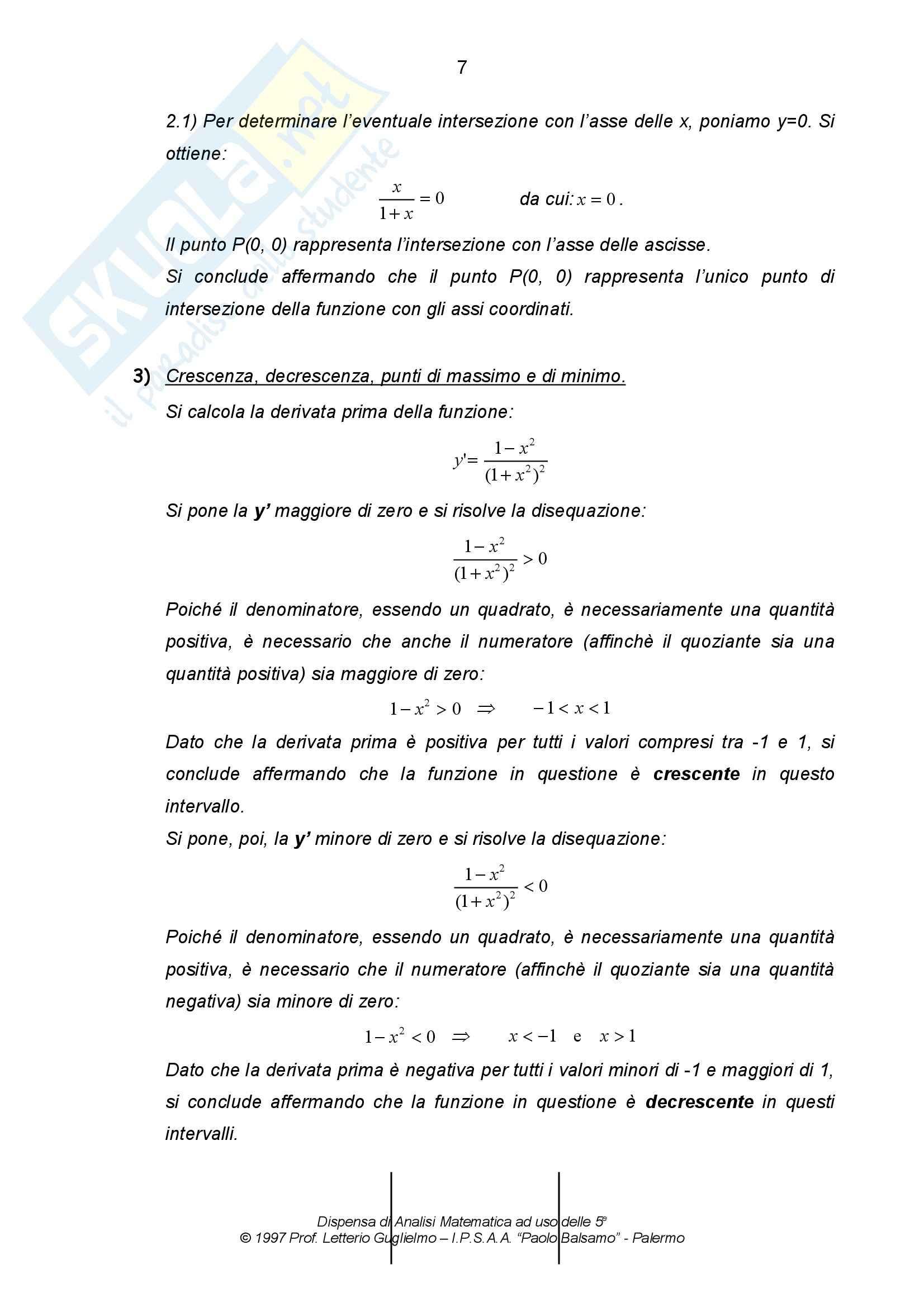 Matematica per le applicazioni I - le funzioni Pag. 21