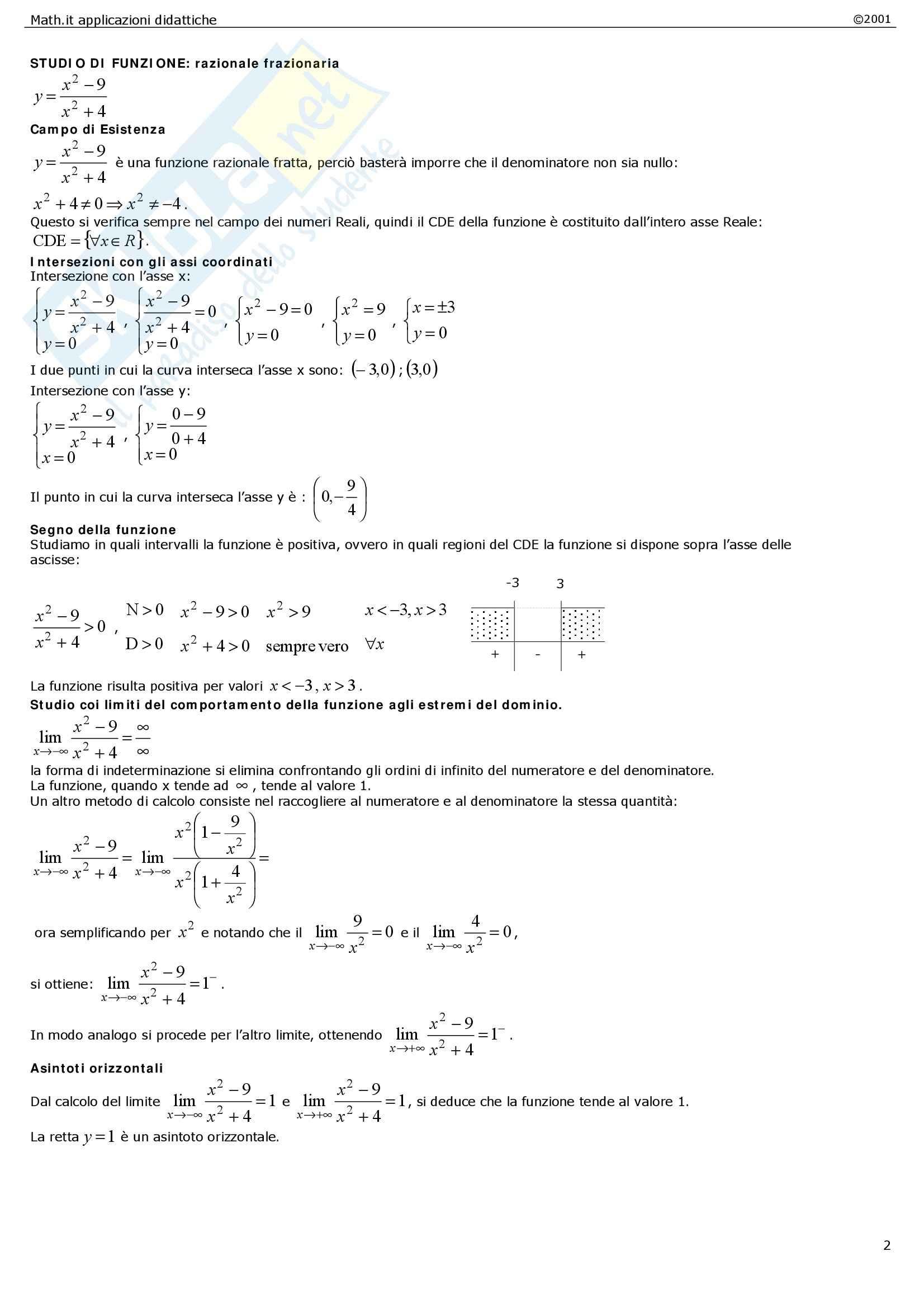 Matematica per le applicazioni I - le funzioni Pag. 6