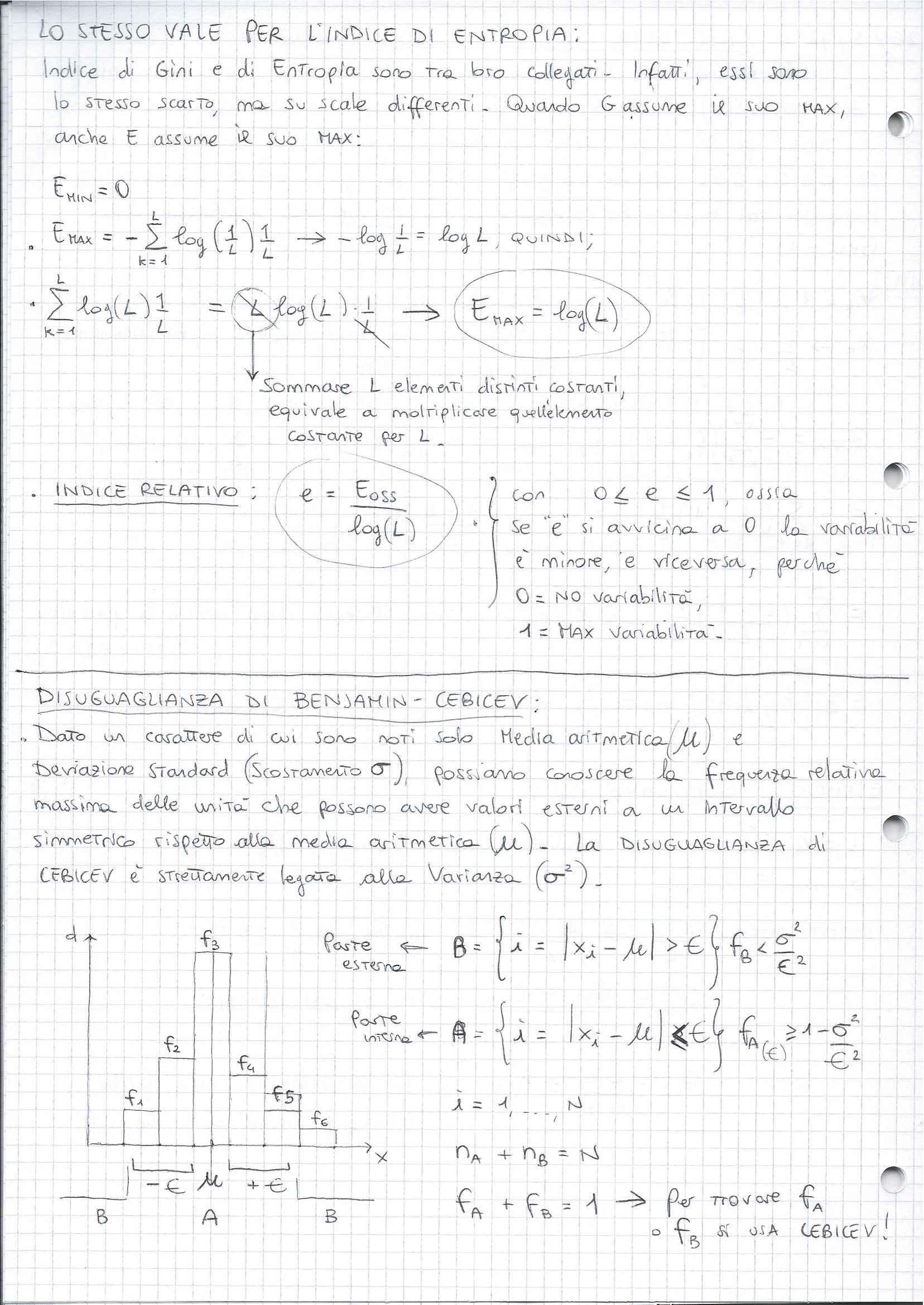 Statistica - Indice di Entropia