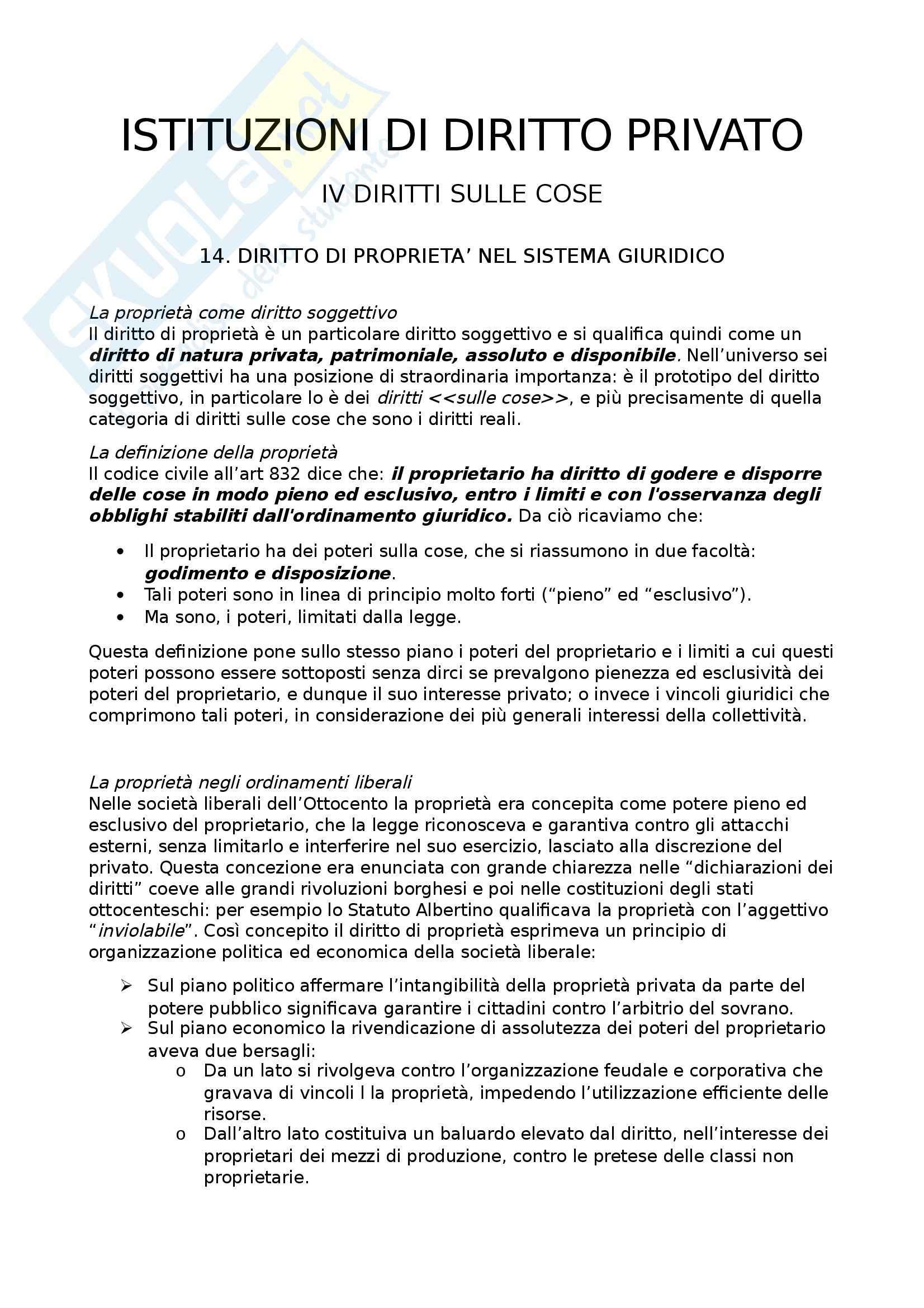 Riassunto esame istituzioni di diritto privato, prof. Savorani, libro consigliato Diritto Privato, Vincenzo Roppo