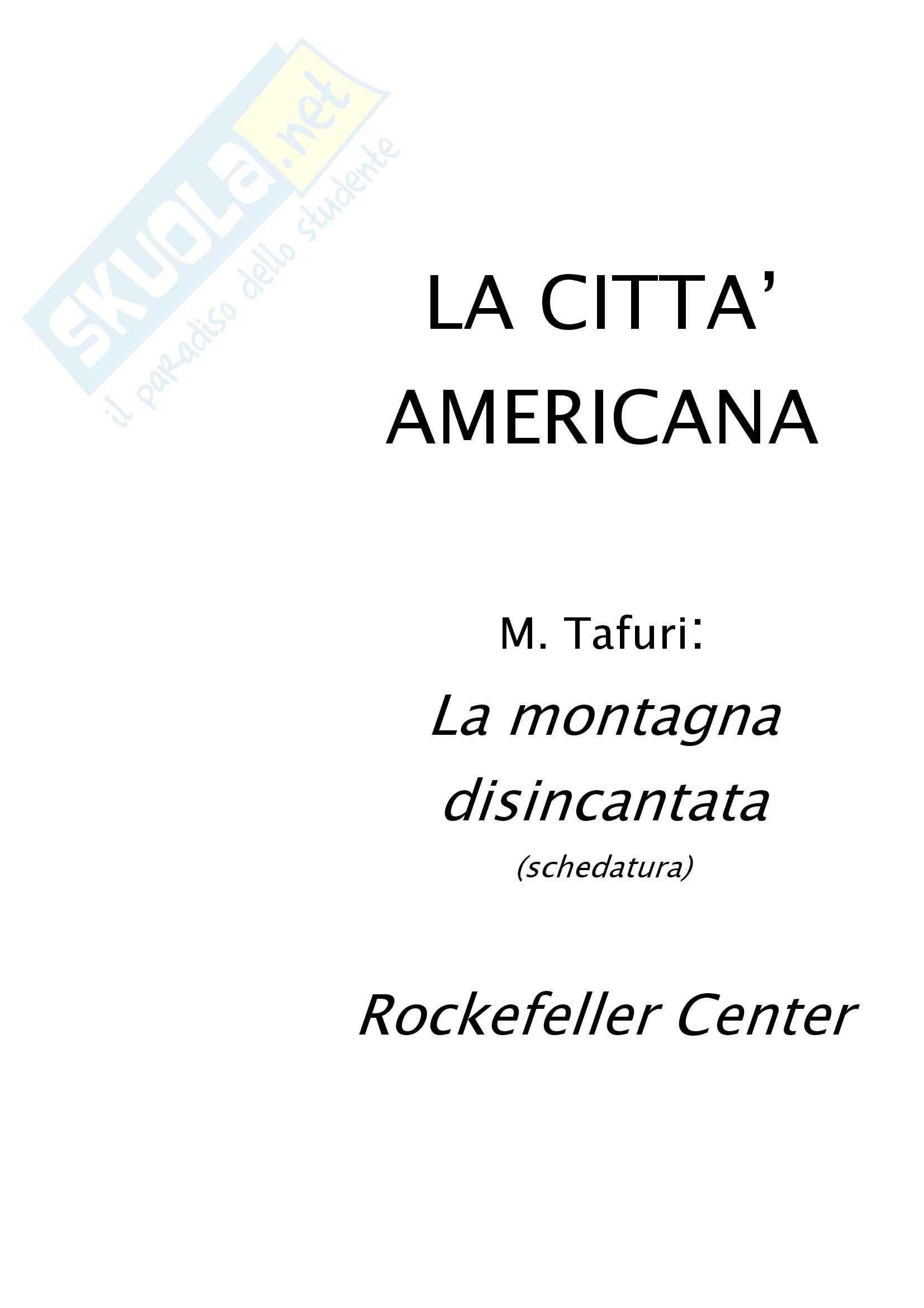 Riassunto esame Storia dell'Architettura, prof. Fonti, libro consigliato Storia dell'Architettura: La Città Americana