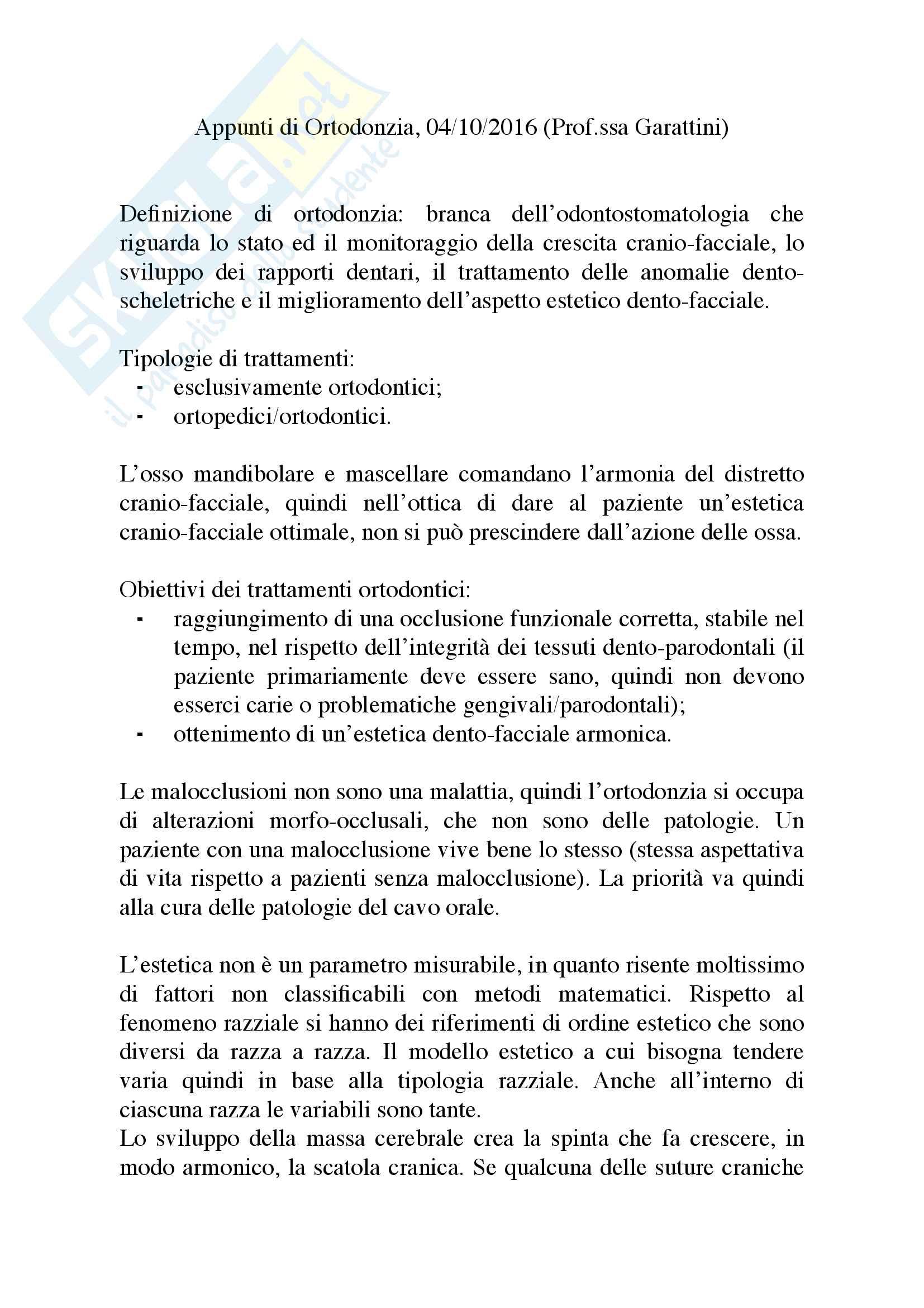 Appunti di Ortodonzia