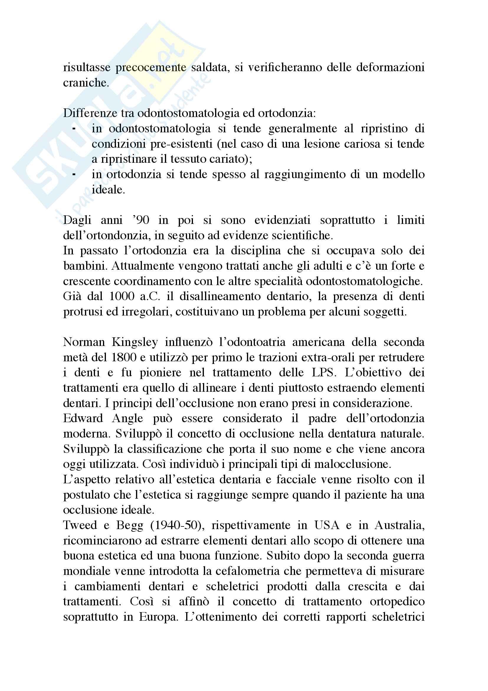 Appunti di Ortodonzia Pag. 2