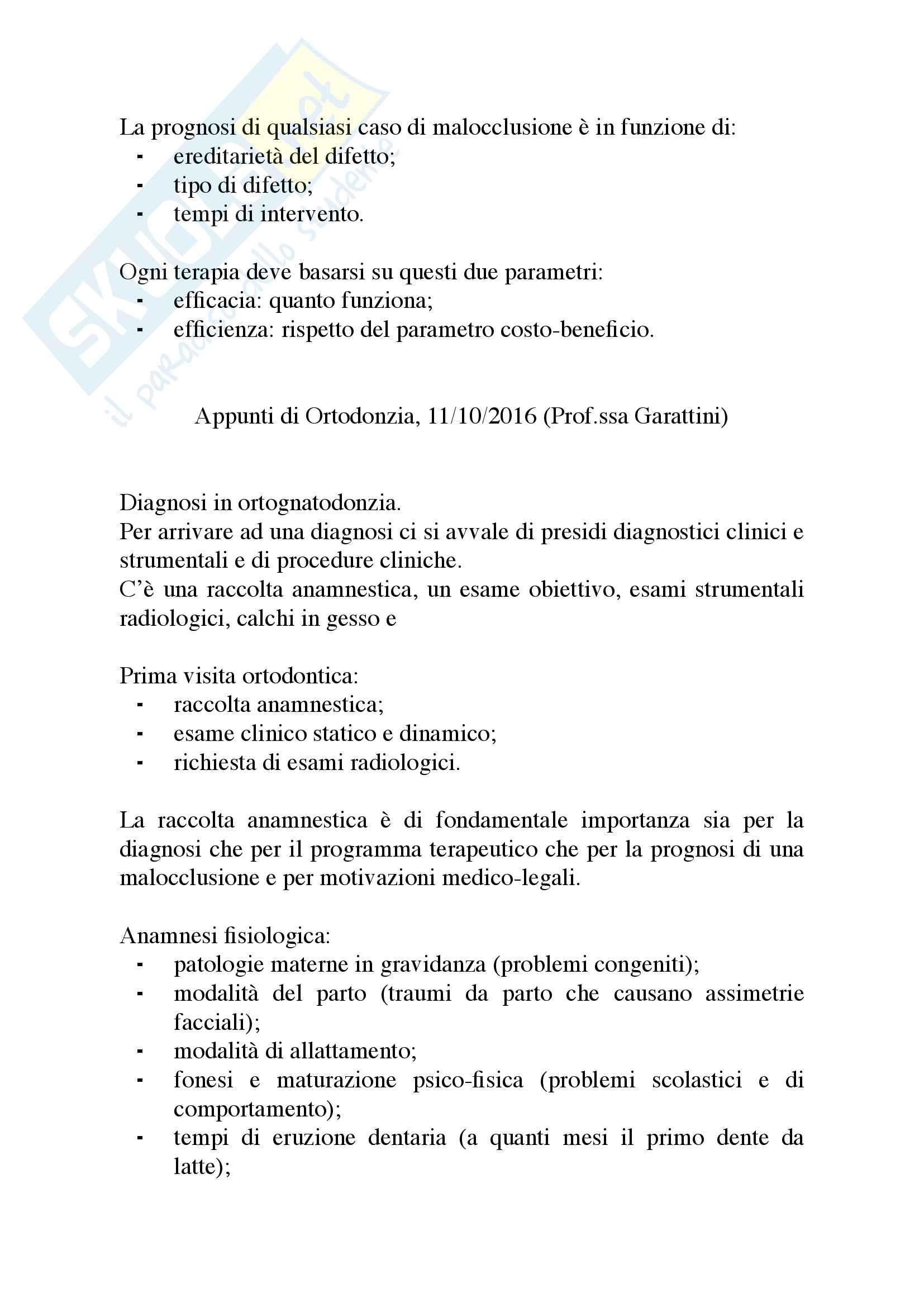 Appunti di Ortodonzia Pag. 6
