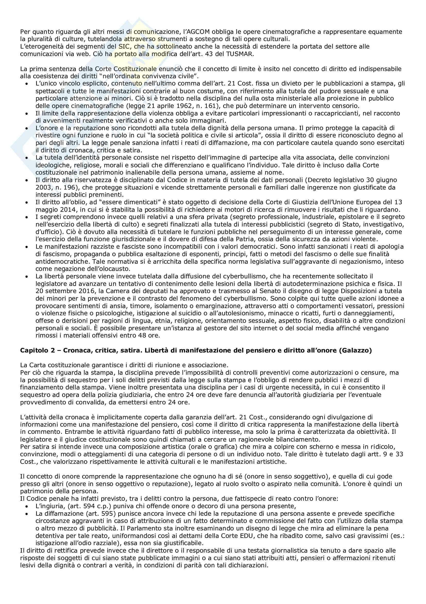 Riassunto esame Diritto dell'informazione progredito, prof. Musselli, libro consigliato L'informazione e le sue regole Avanzini Pag. 2