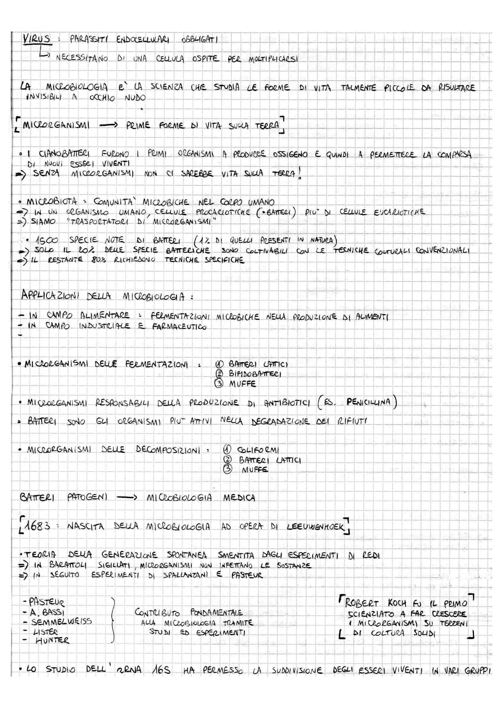 Microbiologia generale - Appunti