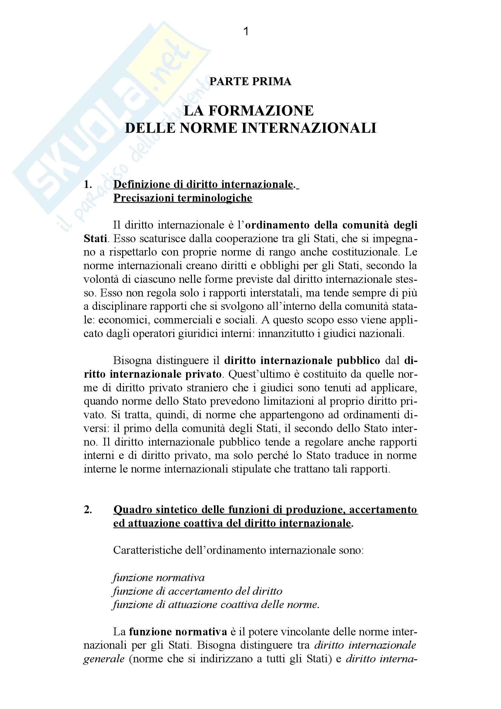 Riassunto esame Diritto Internazionale, prof. Giardina, libro consigliato Diritto Internazionale, Conforti