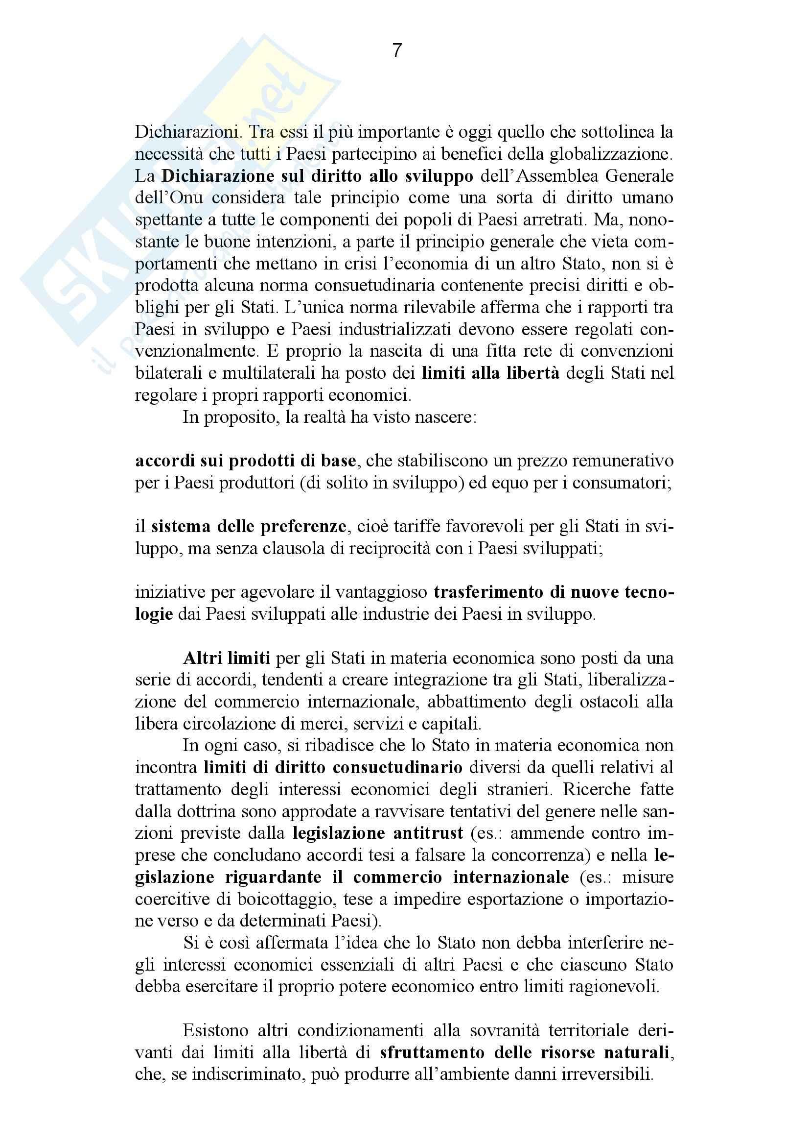 Riassunto esame Diritto Internazionale, prof. Giardina, libro consigliato Diritto Internazionale, Conforti Pag. 61