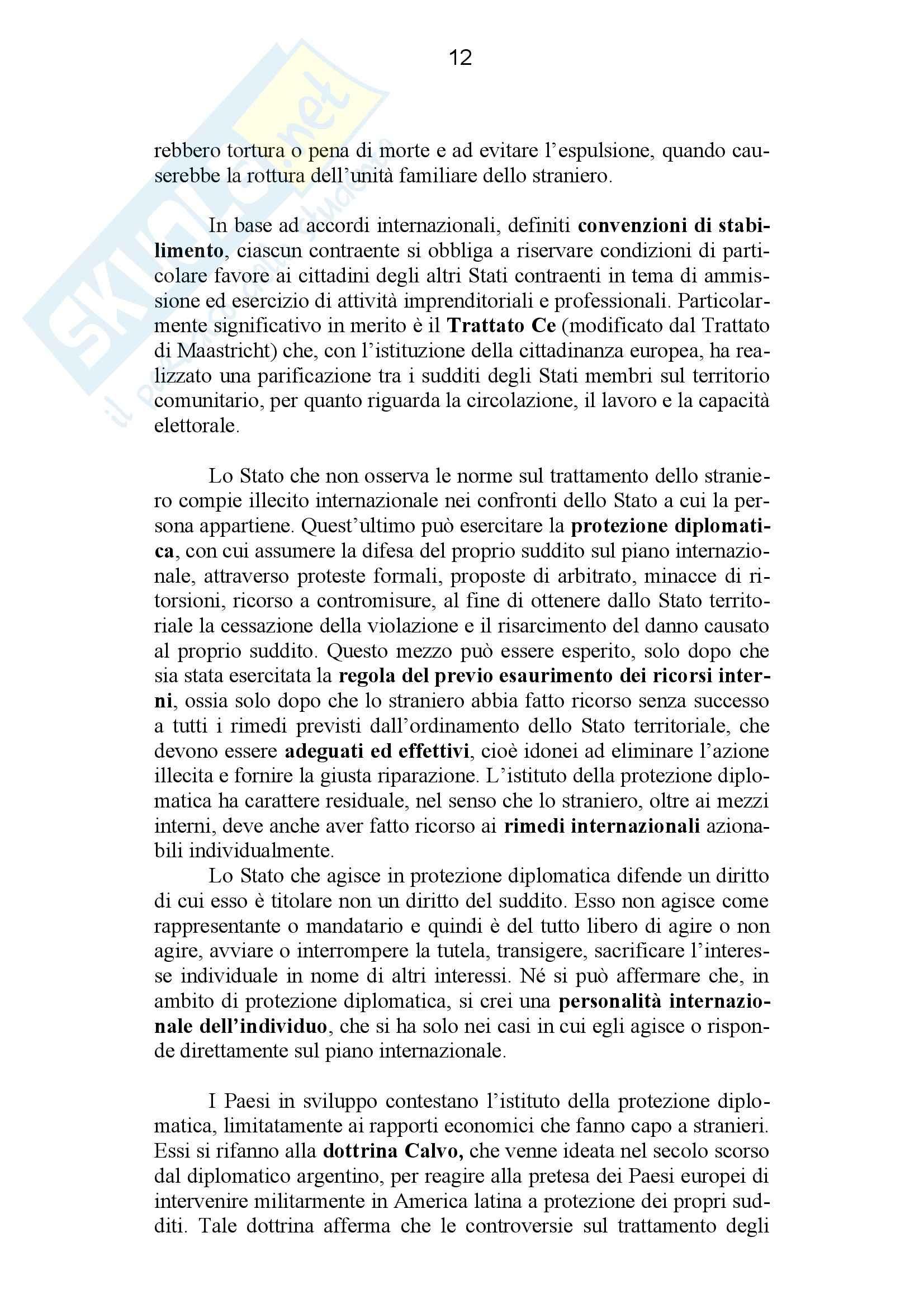 Riassunto esame Diritto Internazionale, prof. Giardina, libro consigliato Diritto Internazionale, Conforti Pag. 66