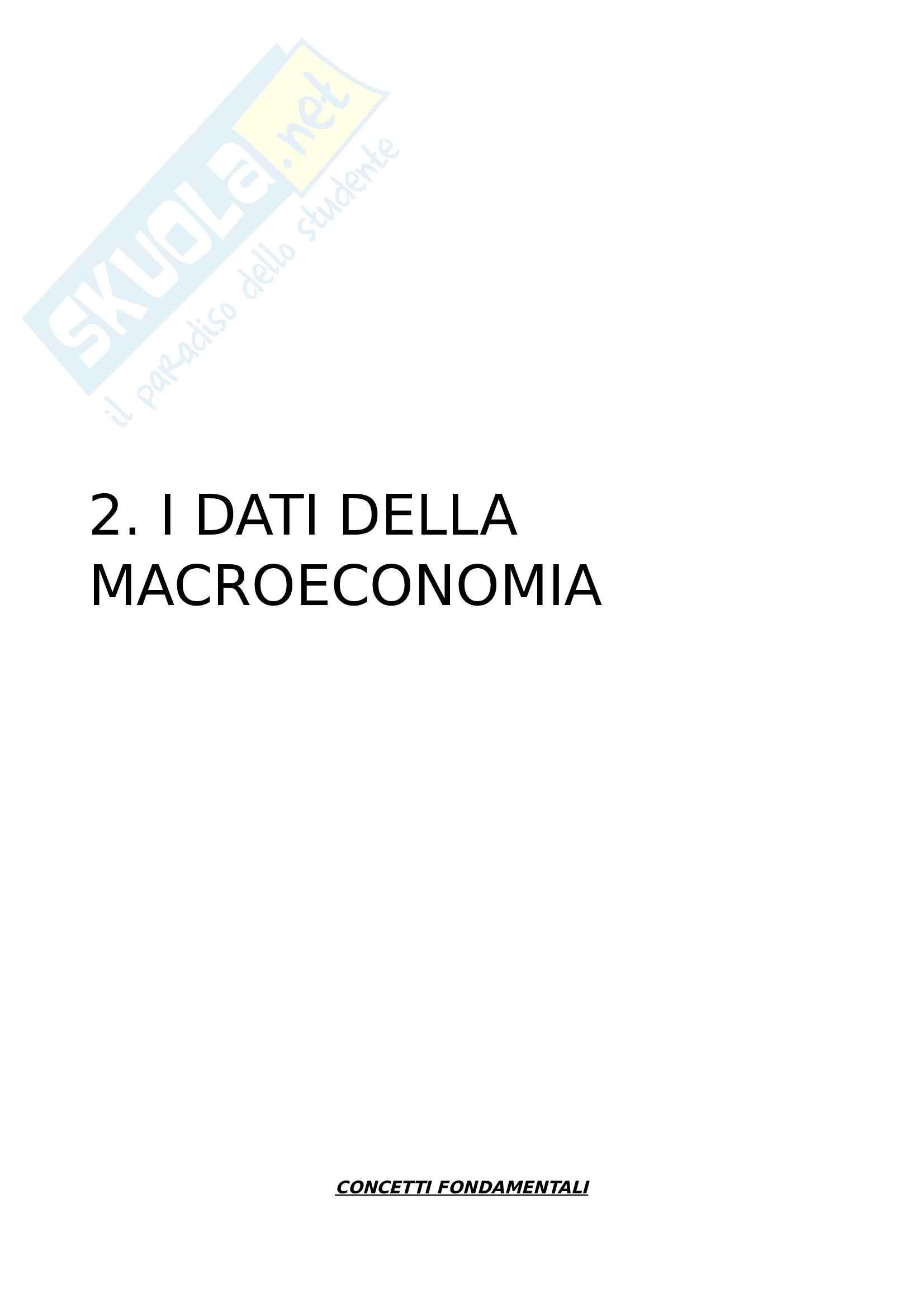 2. I dati della macroeconomia