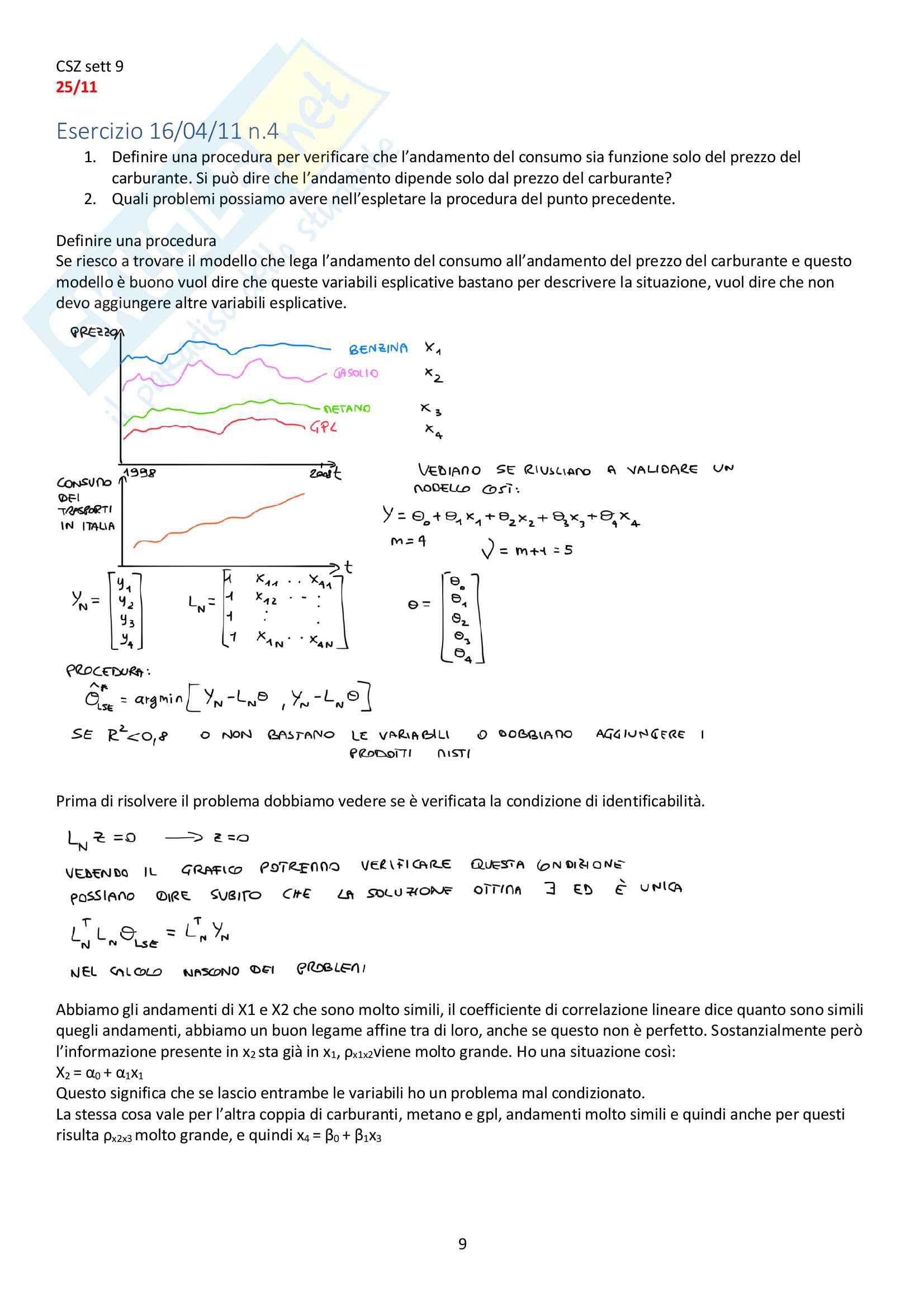 Appunti del corso Modellistica e identificazione, prof. De Santis Pag. 81
