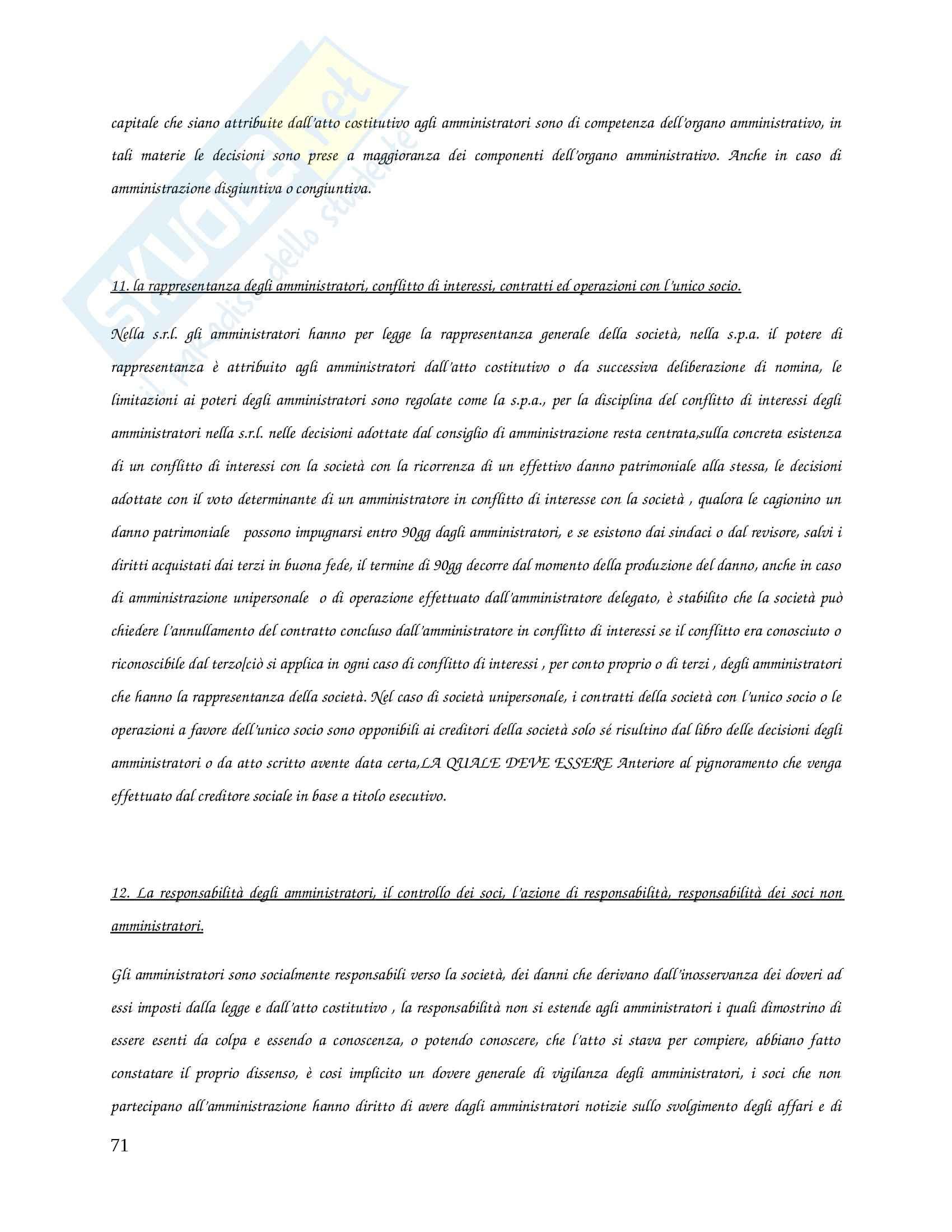 Riassunto esame Diritto Commerciale, prof. Caccavale, libro consigliato Le Società Di Capitali, Vitobello, Dente Pag. 71