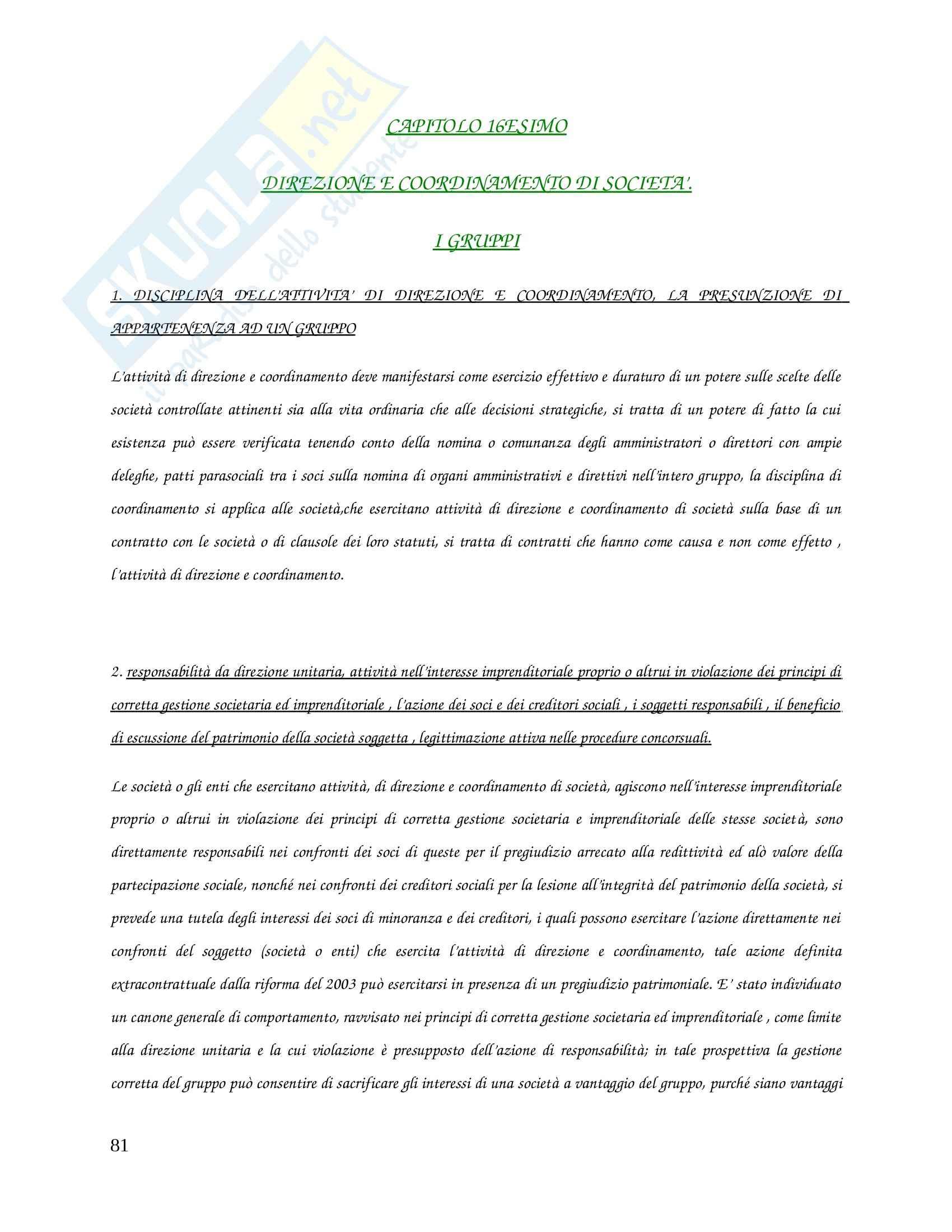 Riassunto esame Diritto Commerciale, prof. Caccavale, libro consigliato Le Società Di Capitali, Vitobello, Dente Pag. 81