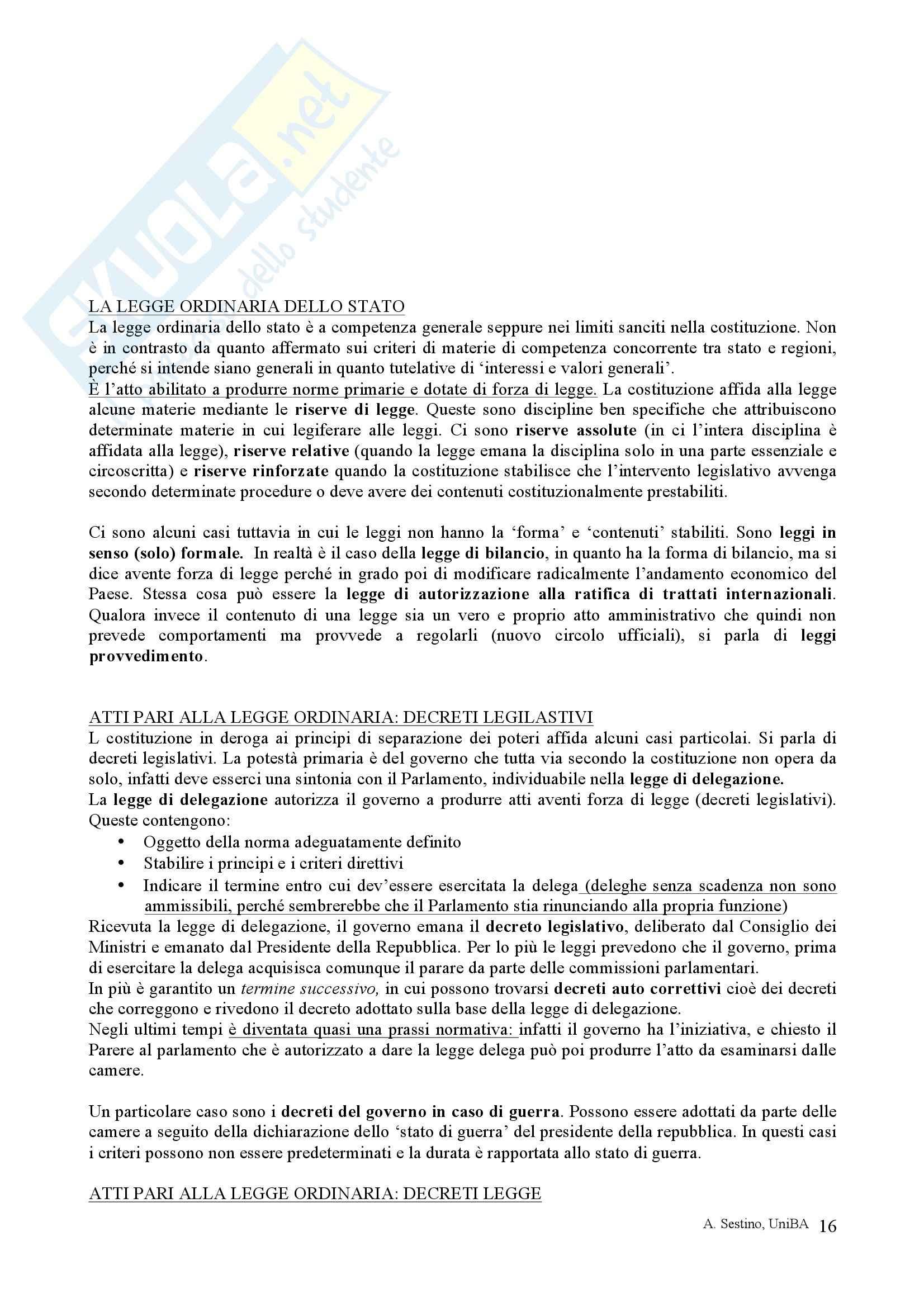 Riassunto esame Diritto pubblico, prof. Teotonico, libro consigliato Corso di diritto pubblico, Barbera, Fusaro Pag. 16