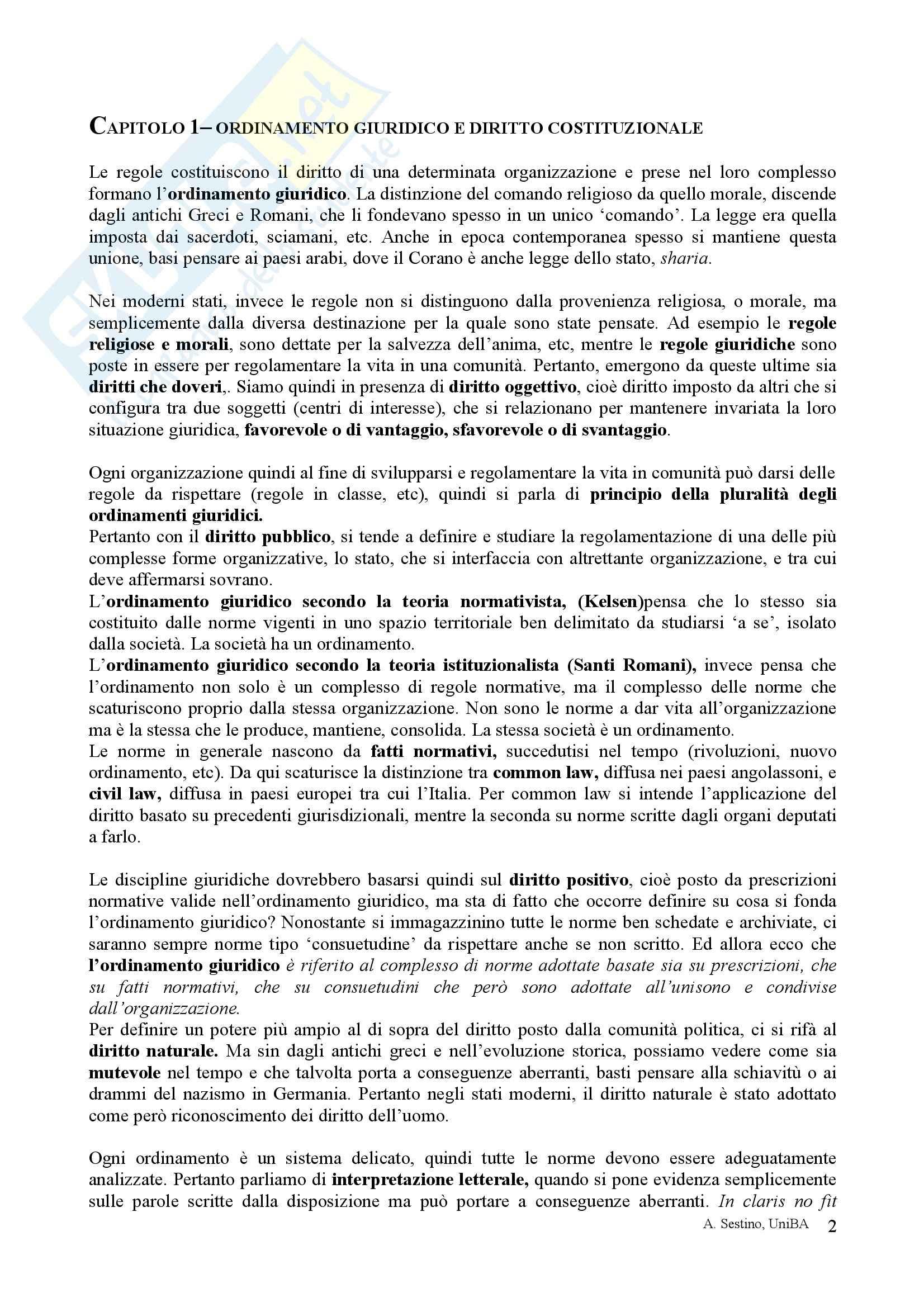 Riassunto esame Diritto pubblico, prof. Teotonico, libro consigliato Corso di diritto pubblico, Barbera, Fusaro Pag. 2