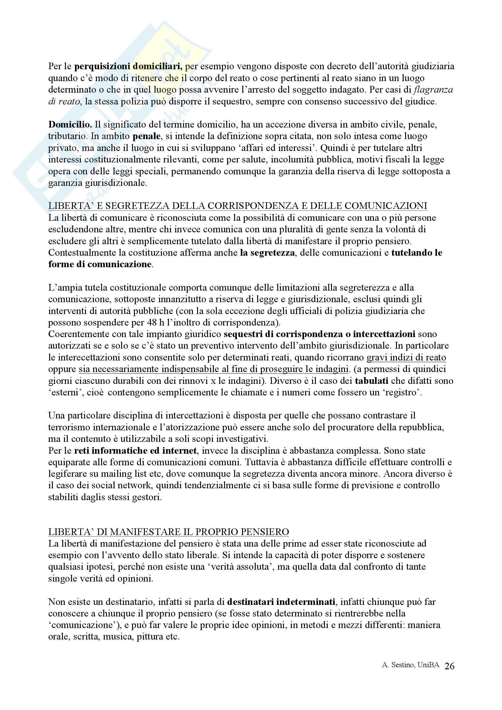 Riassunto esame Diritto pubblico, prof. Teotonico, libro consigliato Corso di diritto pubblico, Barbera, Fusaro Pag. 26