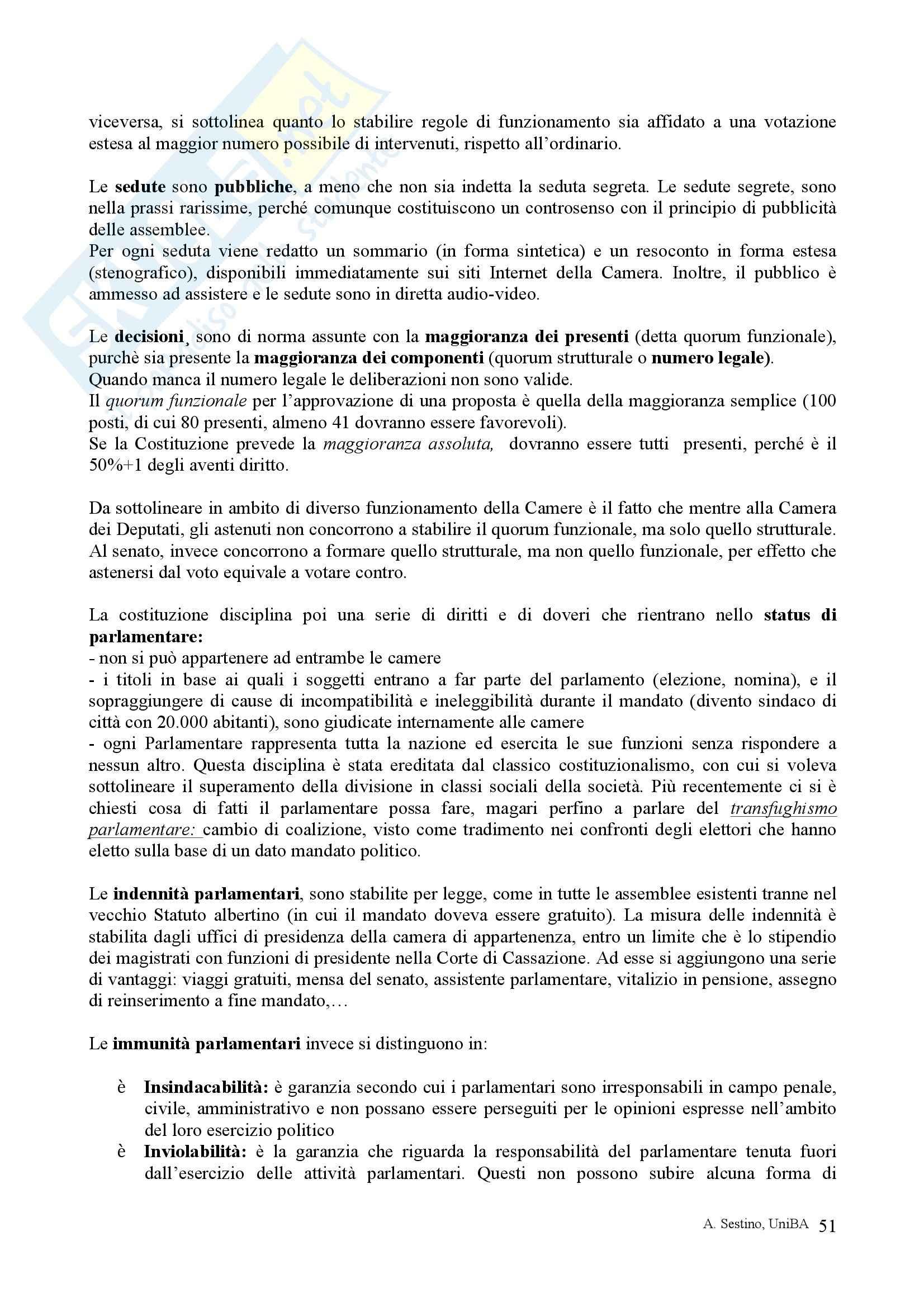 Riassunto esame Diritto pubblico, prof. Teotonico, libro consigliato Corso di diritto pubblico, Barbera, Fusaro Pag. 51