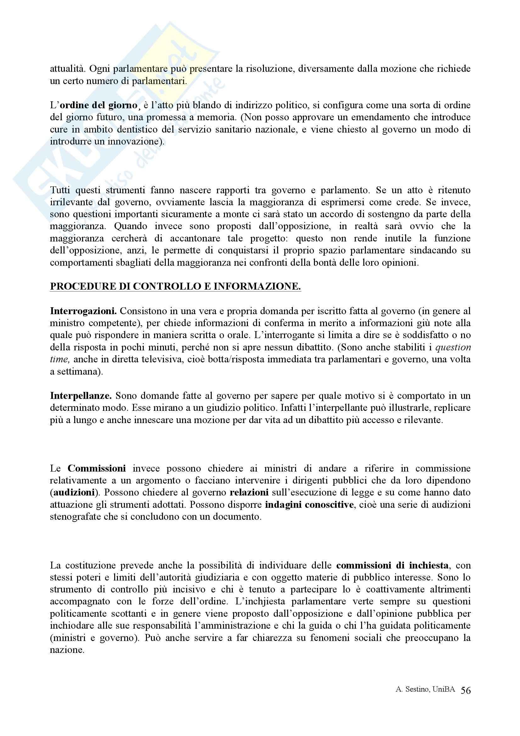Riassunto esame Diritto pubblico, prof. Teotonico, libro consigliato Corso di diritto pubblico, Barbera, Fusaro Pag. 56