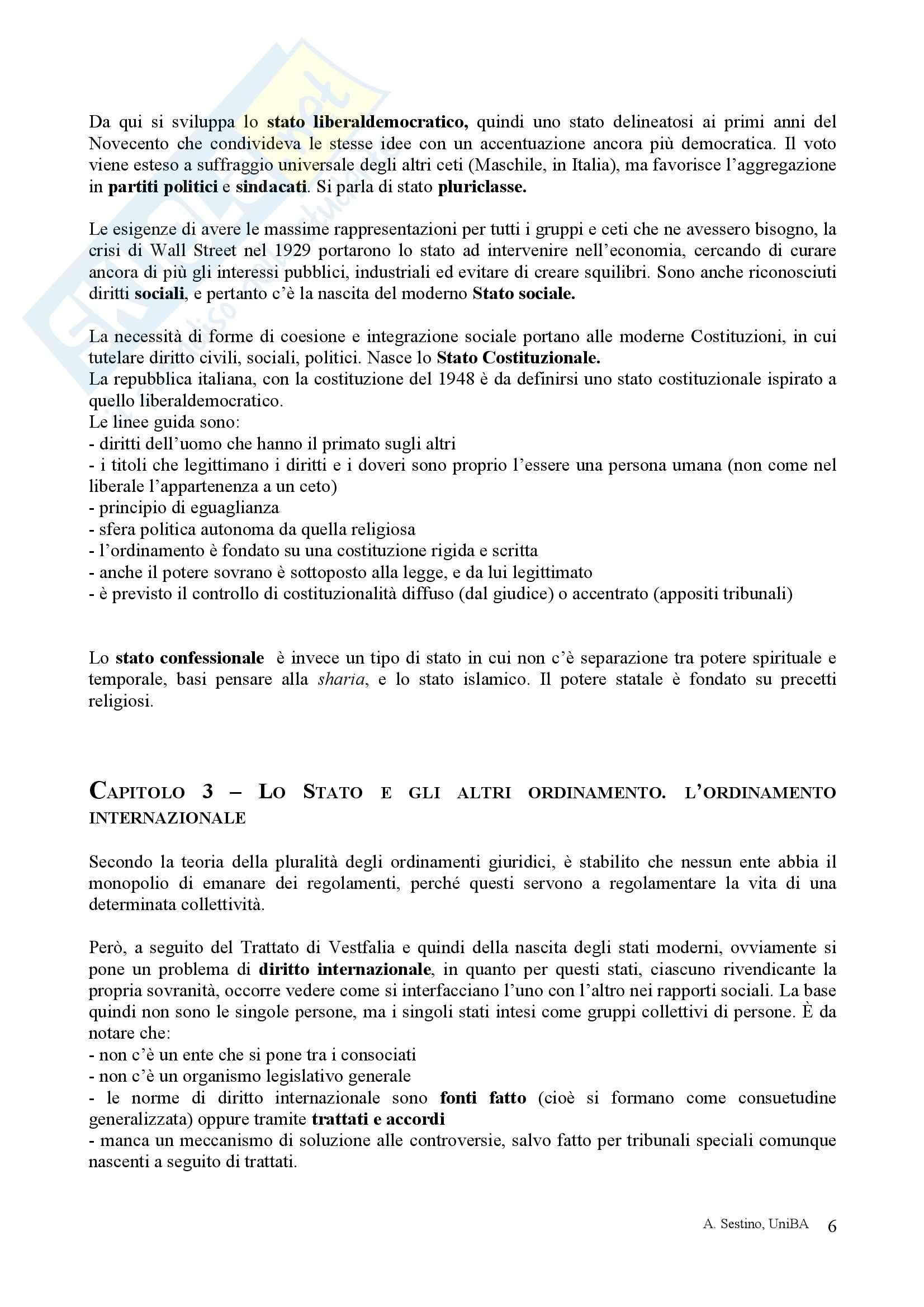Riassunto esame Diritto pubblico, prof. Teotonico, libro consigliato Corso di diritto pubblico, Barbera, Fusaro Pag. 6