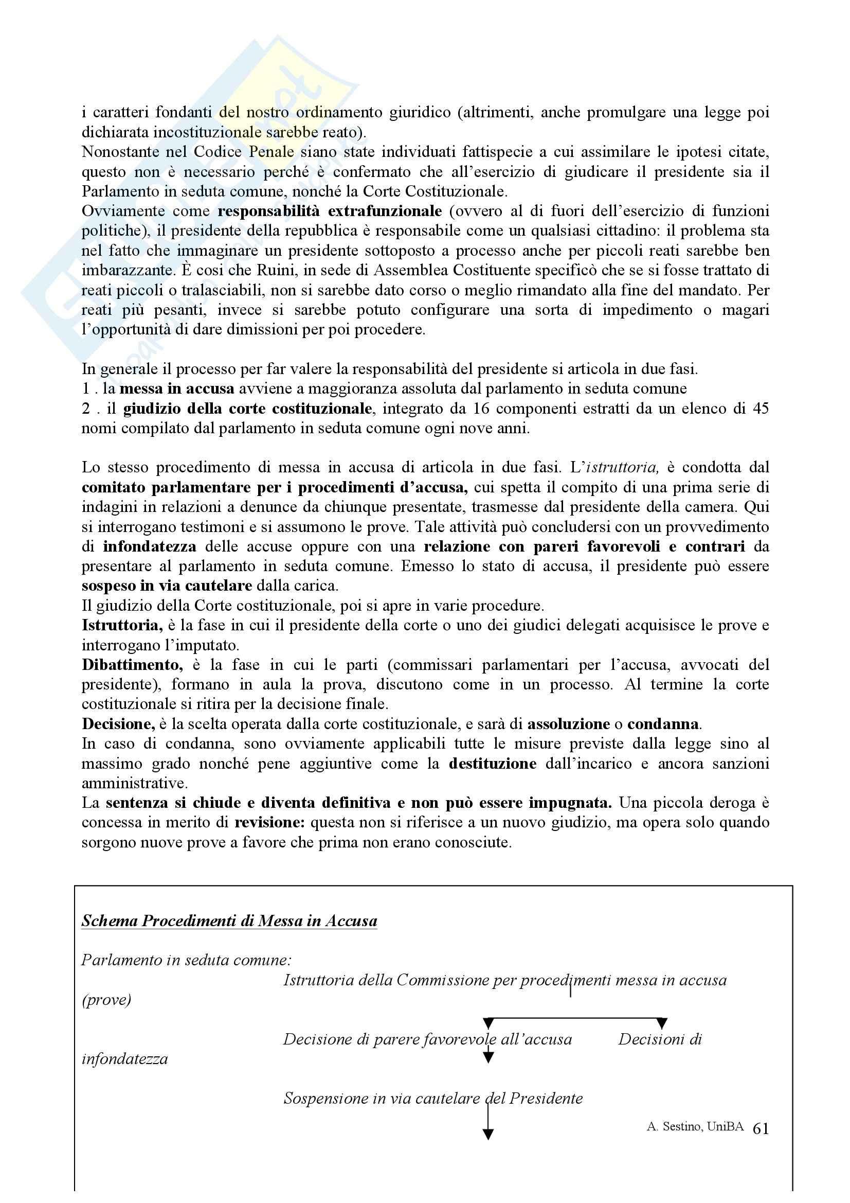 Riassunto esame Diritto pubblico, prof. Teotonico, libro consigliato Corso di diritto pubblico, Barbera, Fusaro Pag. 61