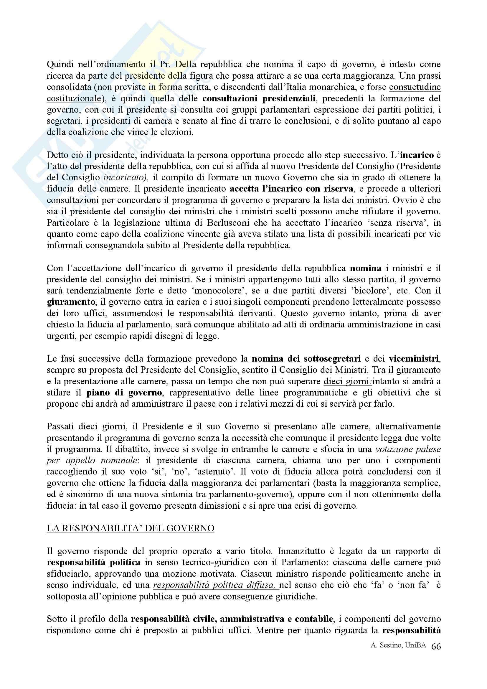 Riassunto esame Diritto pubblico, prof. Teotonico, libro consigliato Corso di diritto pubblico, Barbera, Fusaro Pag. 66