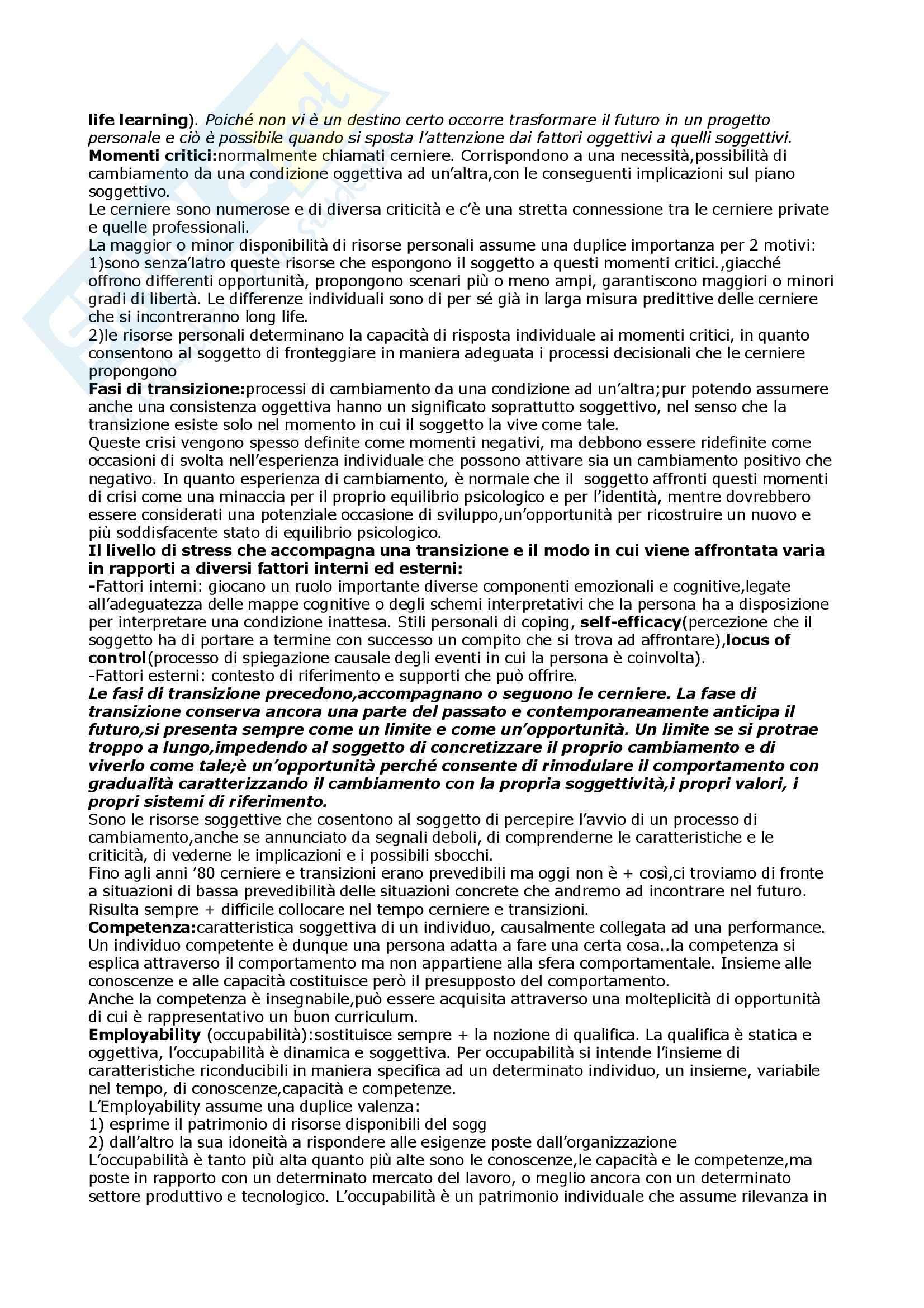Psicologia dell'orientamento scolastico e professionale Pag. 2