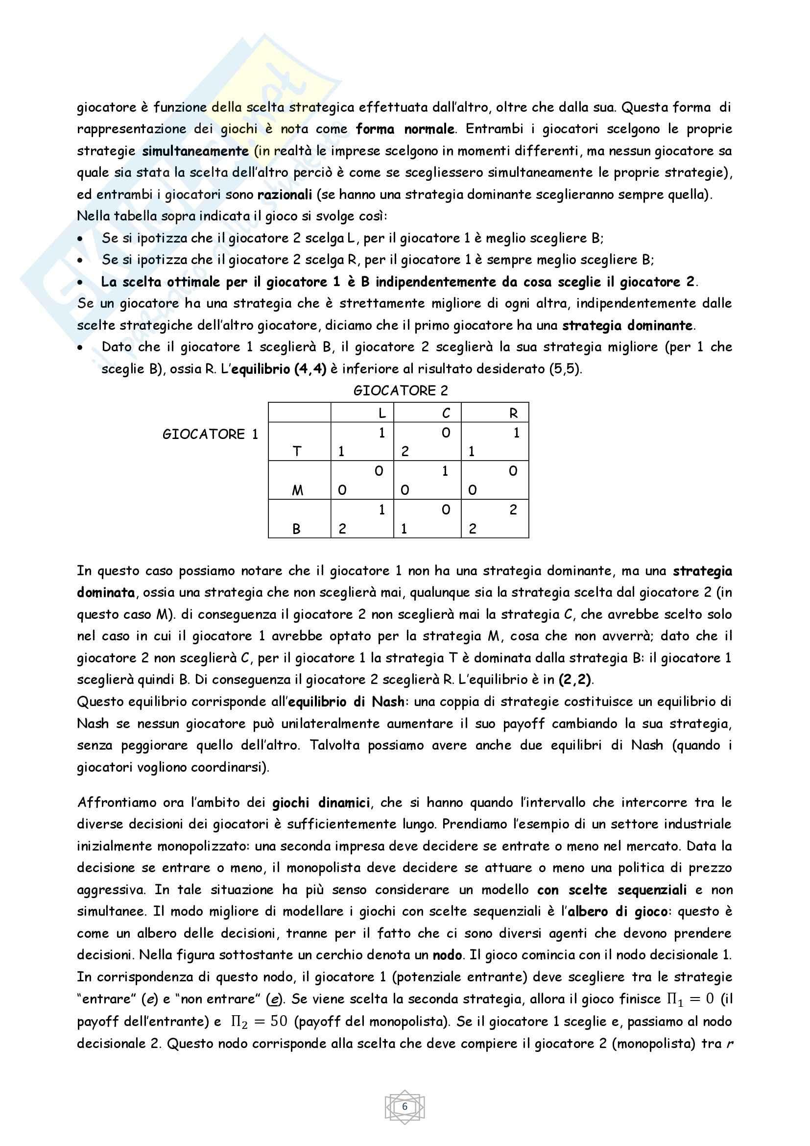 Riassunto esame Economia Industriale, prof. Atzeni, libro consigliato Economia Industriale, Cabral (parte 1) Pag. 6